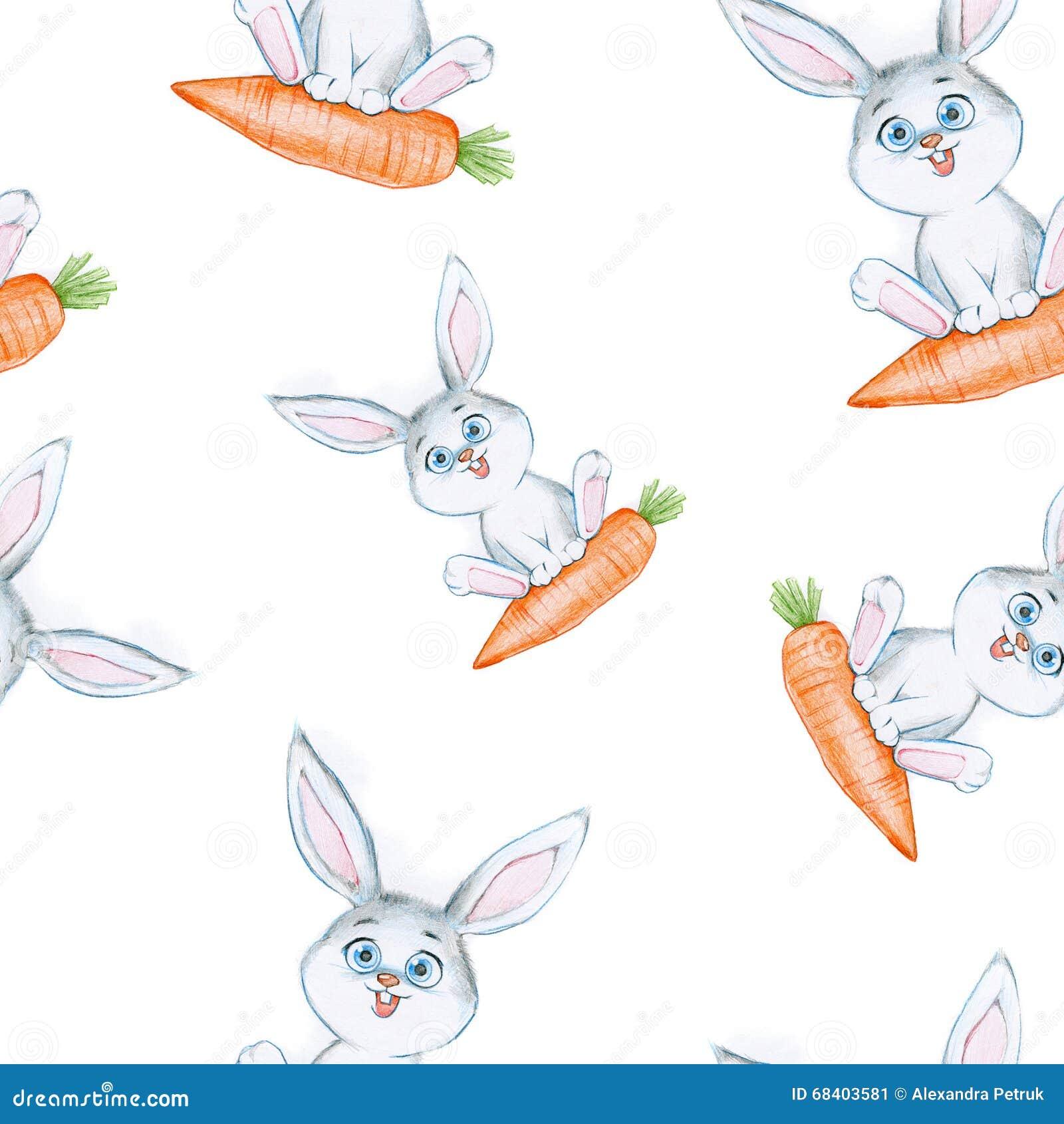Seamless Pencil Drawing Pattern Stock Illustration Illustration Of