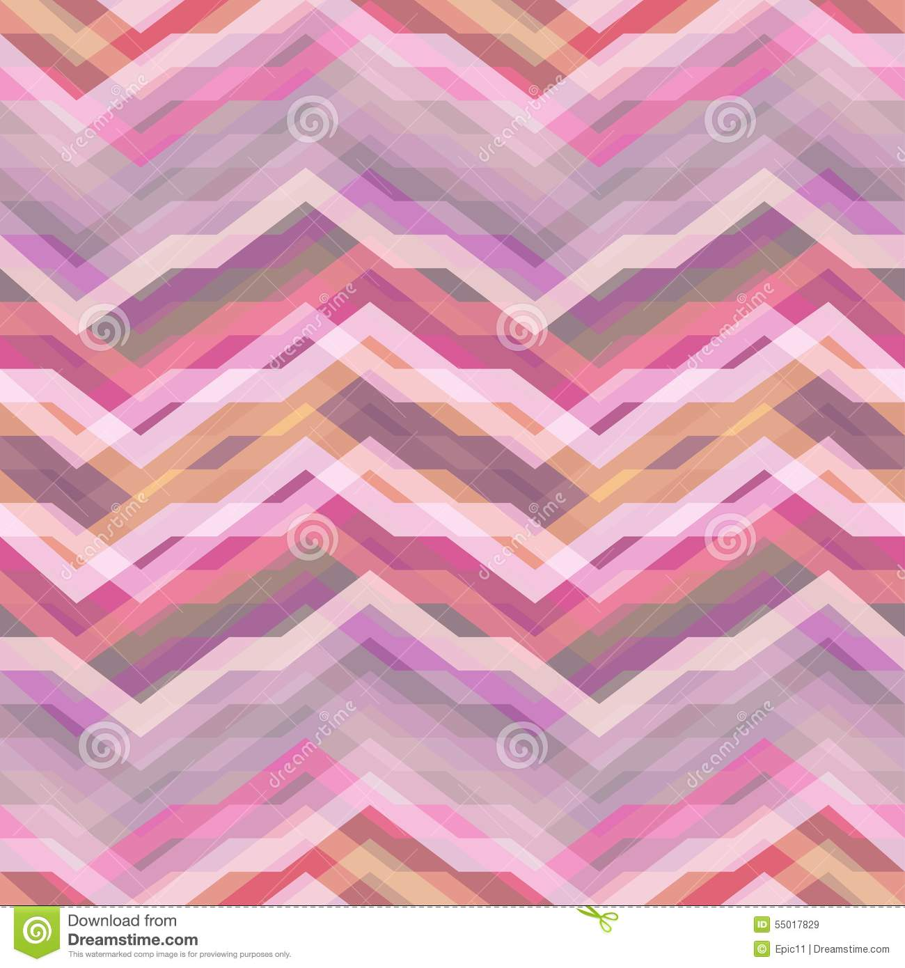Seamless Pink Abstract Retro Vector Background