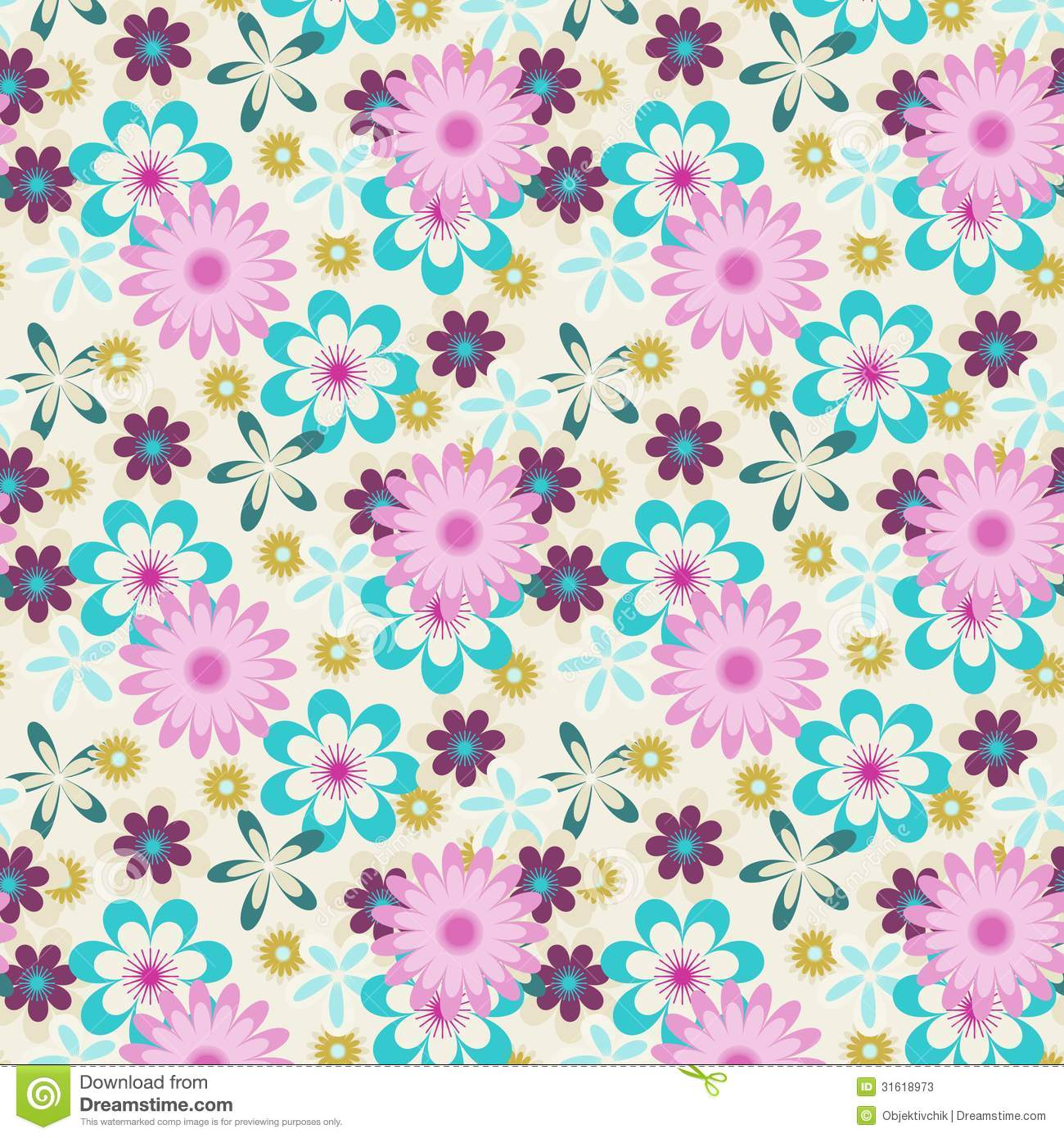 Seamless floral vector...