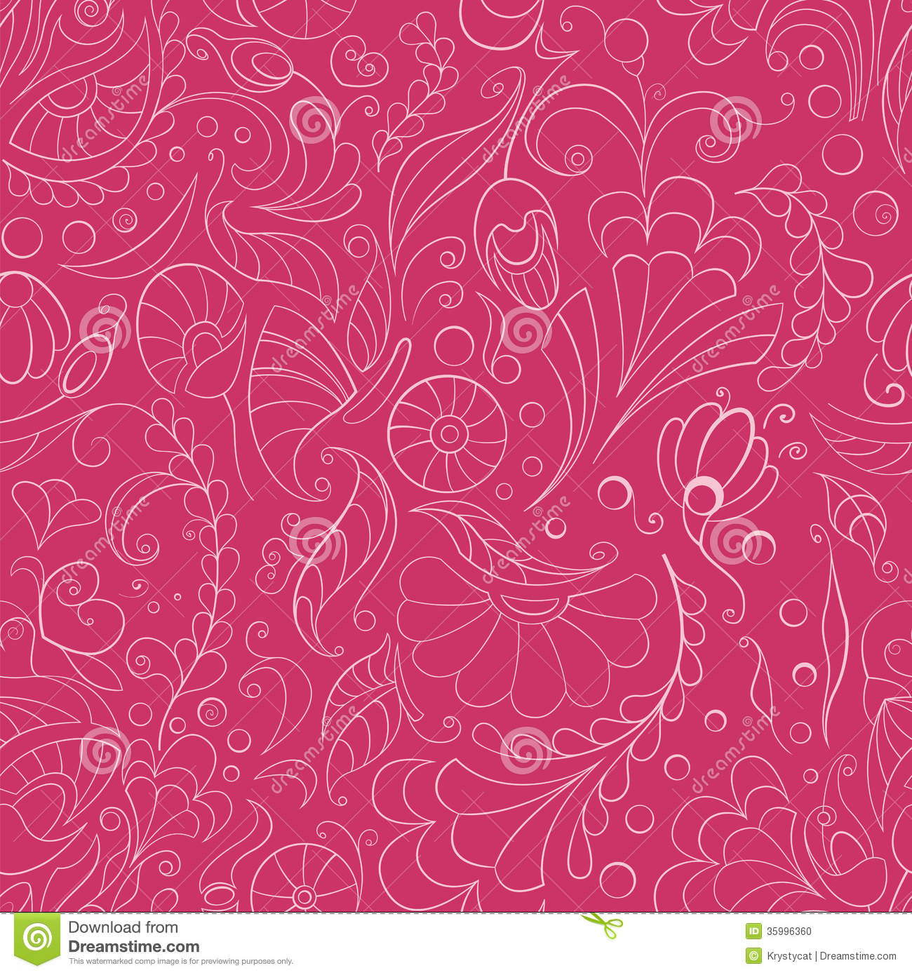 Seamless Pink Floral Background Stock Vector Illustration Of