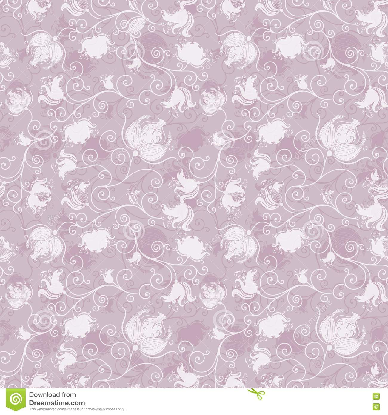 Seamless pink floral pattern - photo#11