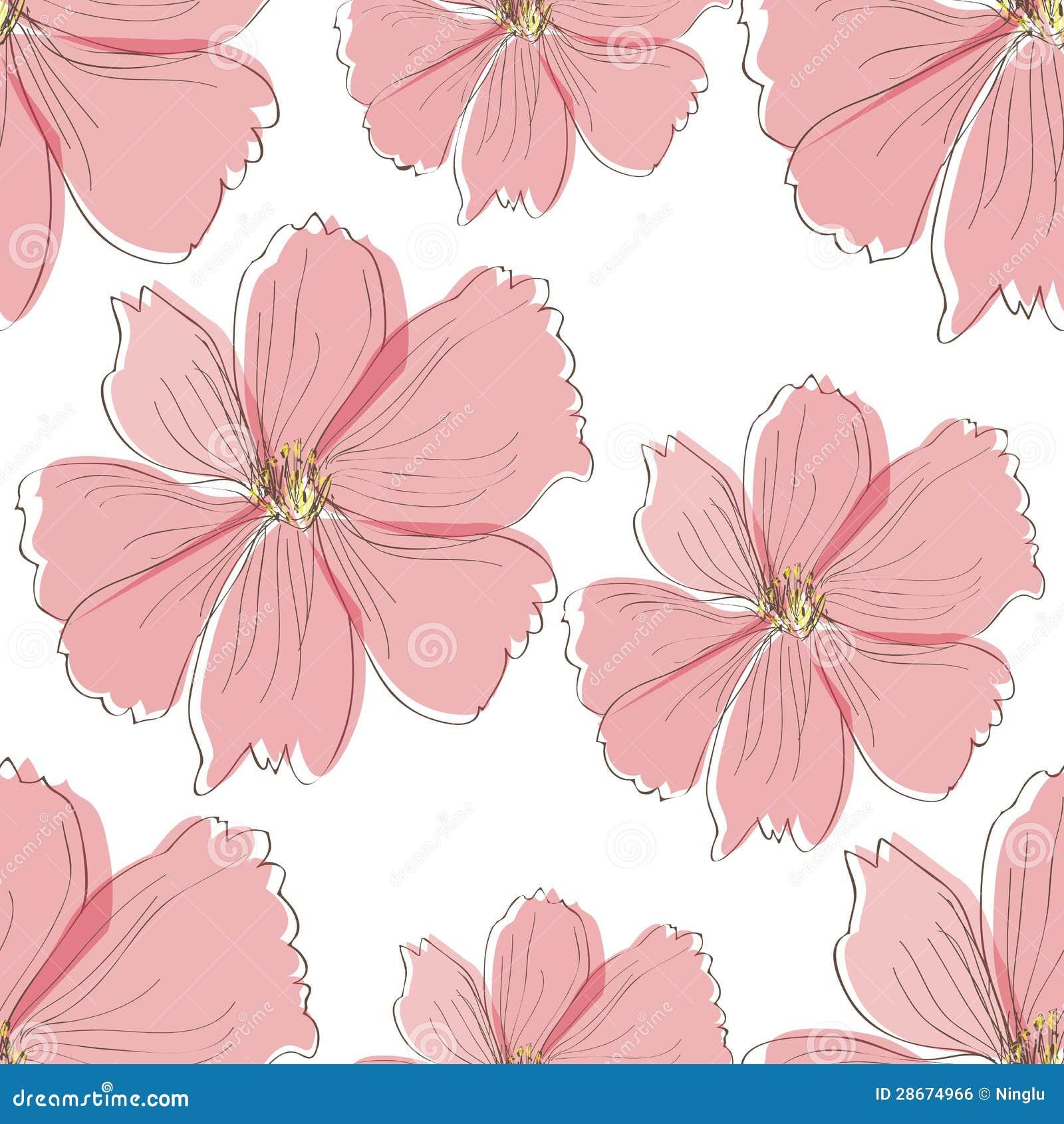 Seamless pink flower pattern stock illustration illustration of seamless pink flower pattern mightylinksfo