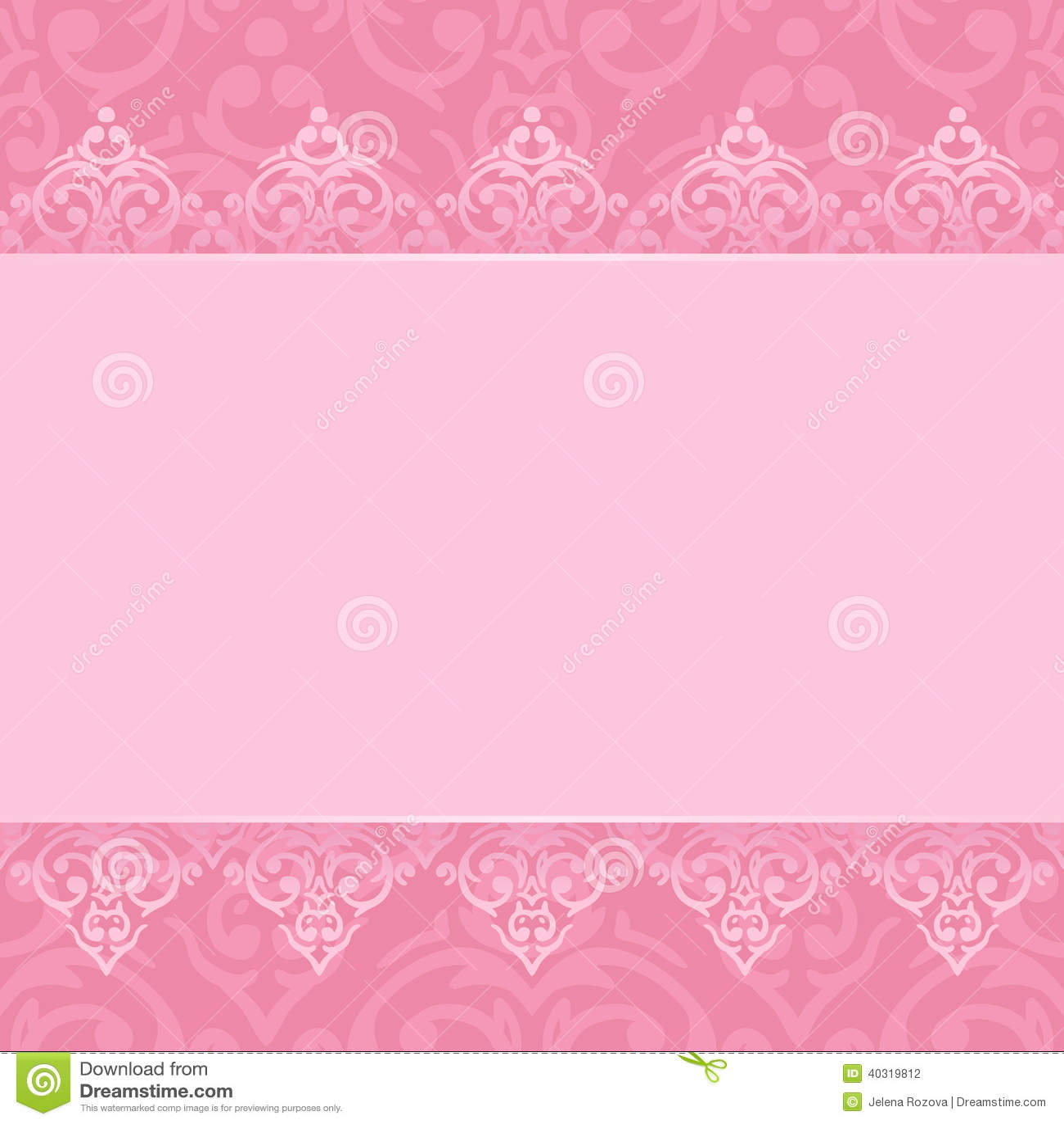 Seamless Pink Frame Border Stock Vector Illustration Of