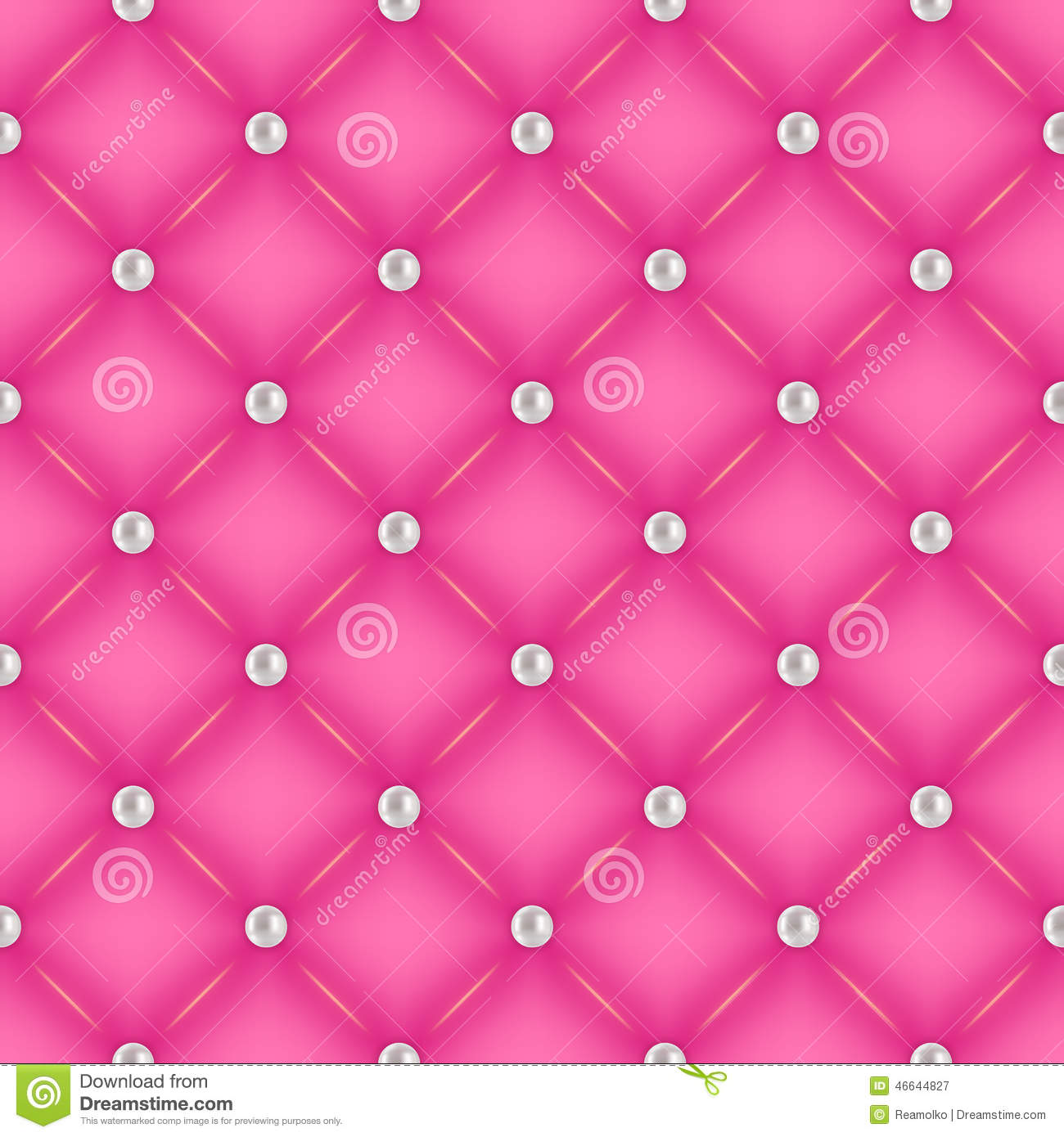 Stock Illustration Seamless Pink Quilted Background Pearl Pins Glam Silk Round Image46644827 on Modern Glamour Interior Design