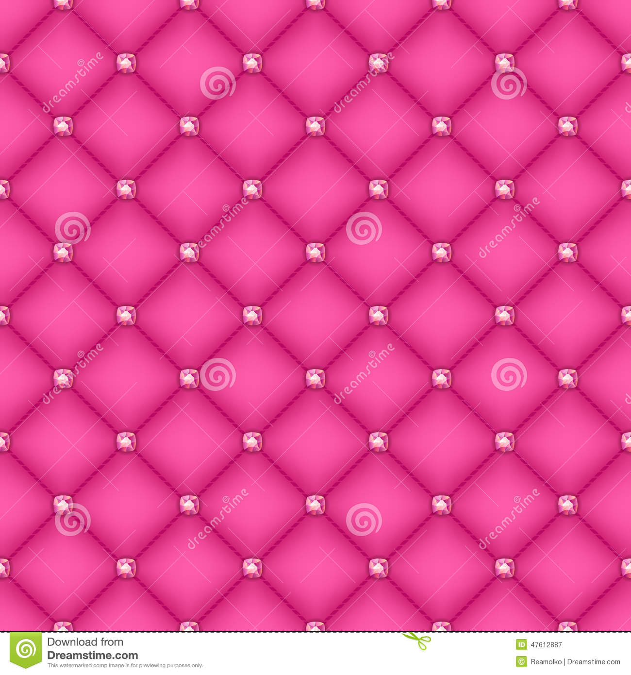 Seamless Pink Quilted ...