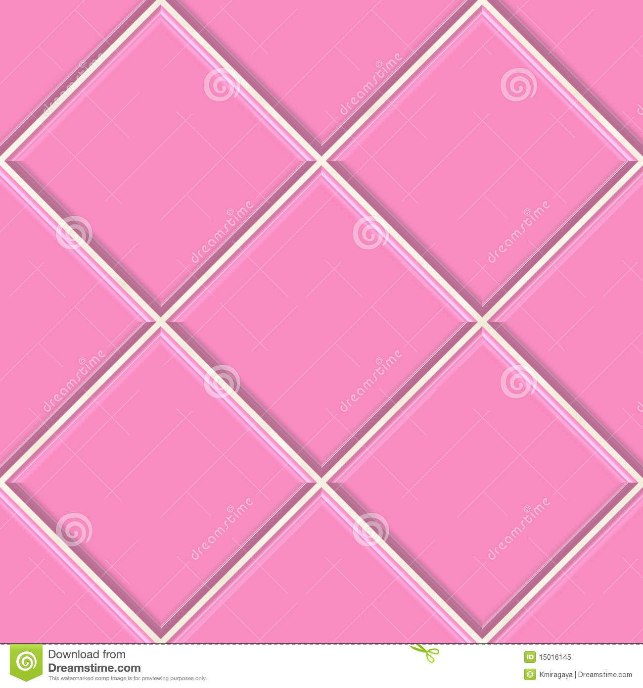 Seamless Pink Tiles Texture Background Stock Illustration