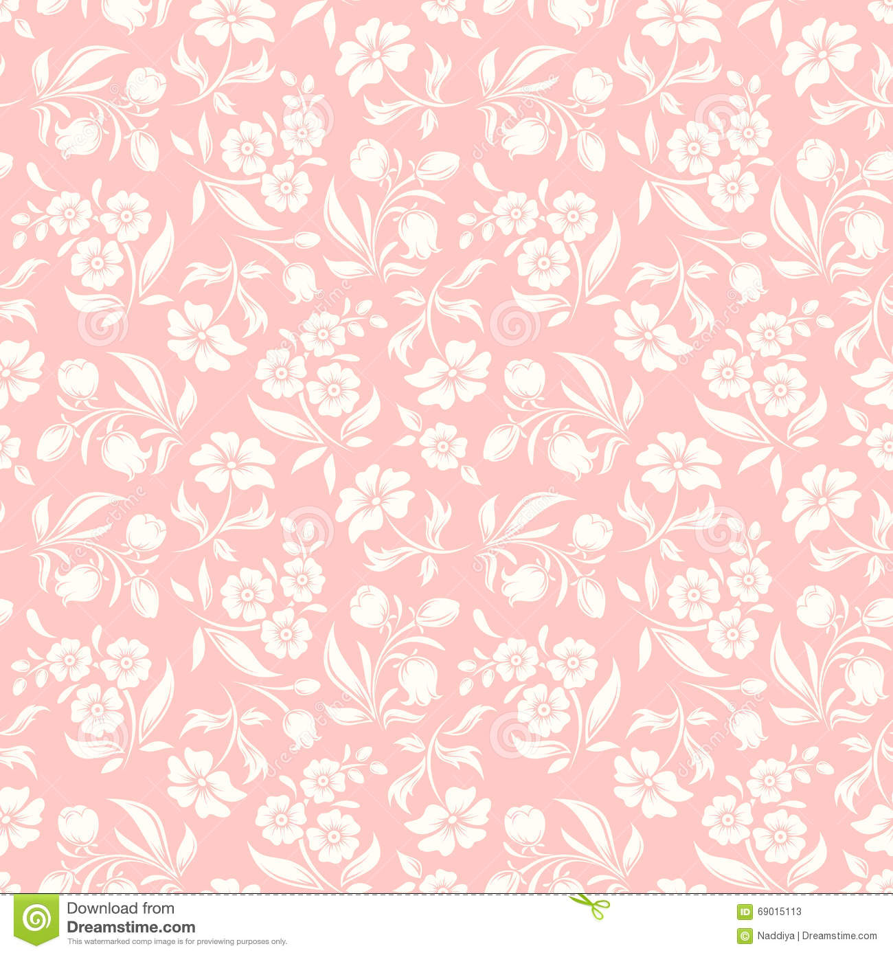 Seamless pink floral pattern - photo#42