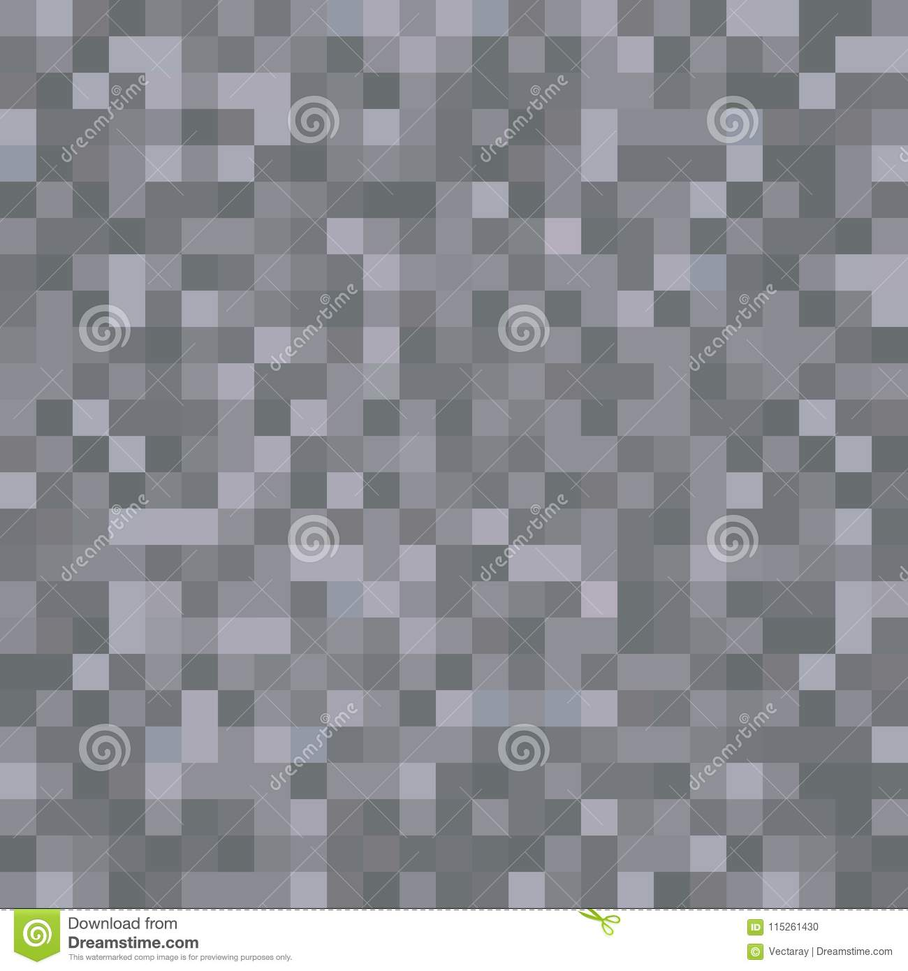 Seamless Pixelated Dark Stone Texture Mapping Background Wallpaper For Various Digital Applications