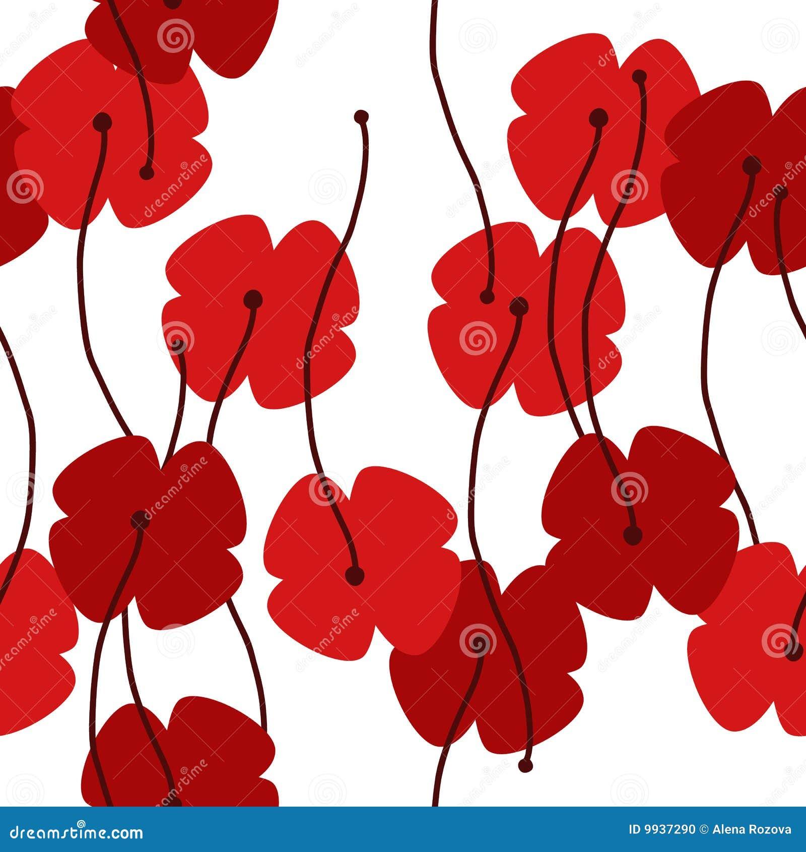 Seamless poppy background