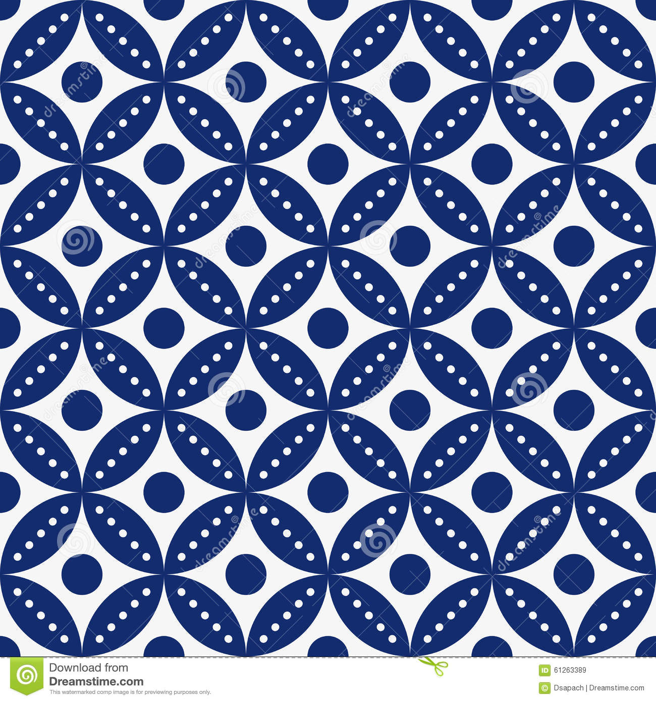 Blue And White Vintage Pattern