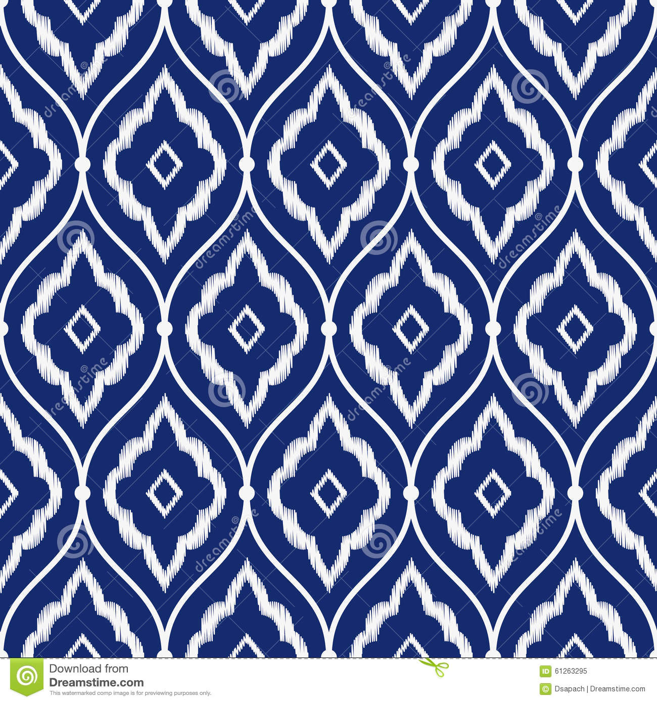 blue moroccan style wallpaper