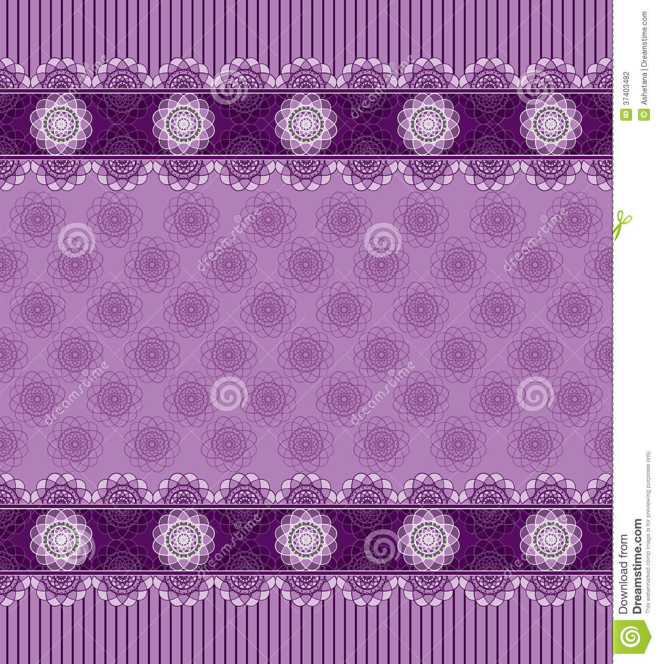 Seamless Purple Background With Lace Border Stock Vector ...