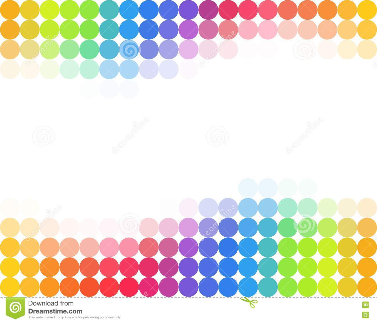 seamless rainbow colored polka dot background stock vector