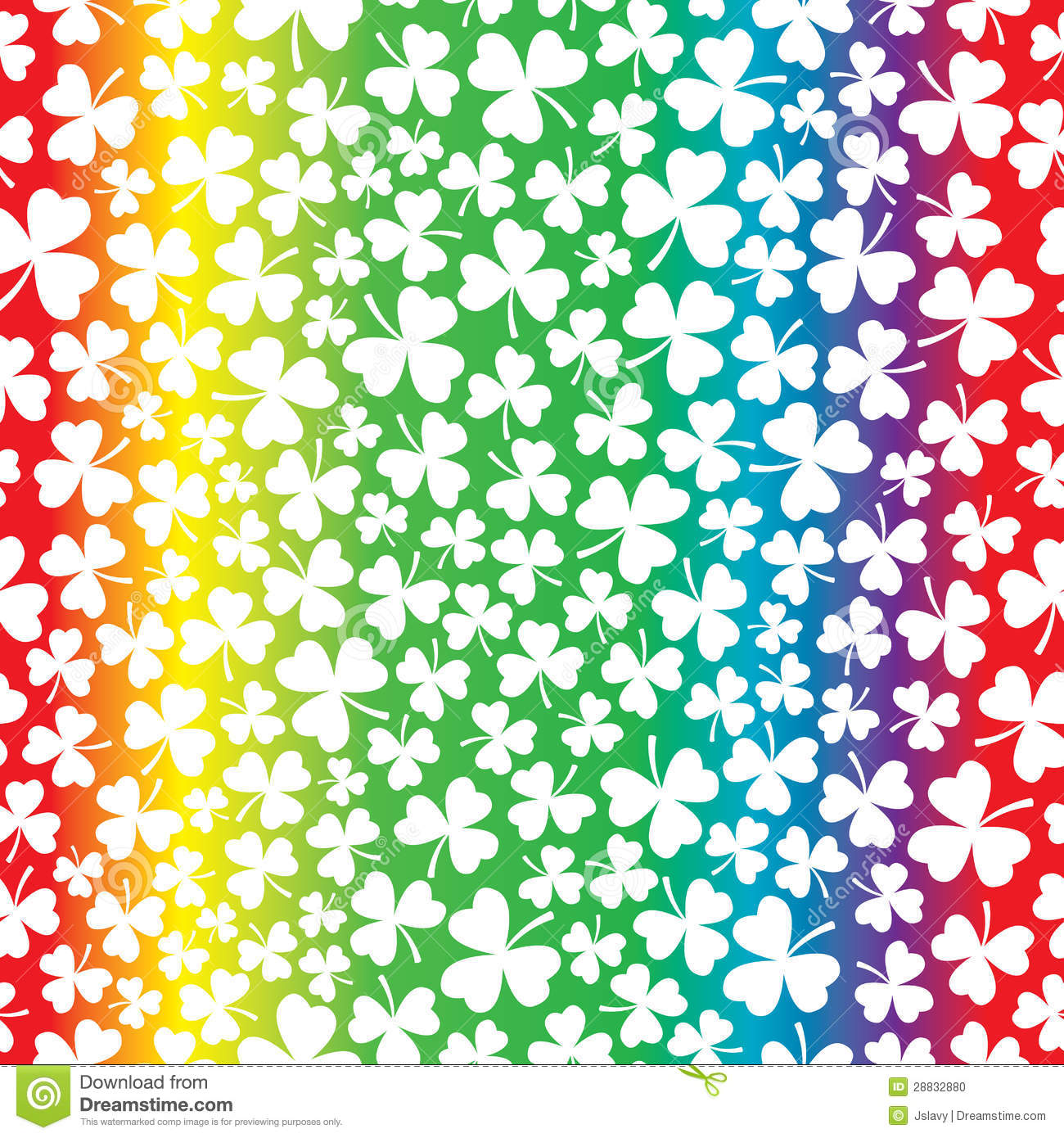 Seamless Rainbow And Shamrock Pattern Stock Photo - Image: 28832880