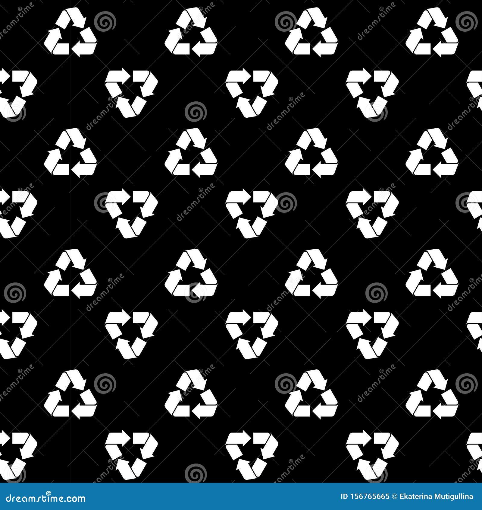 Seamless recycling pattern black