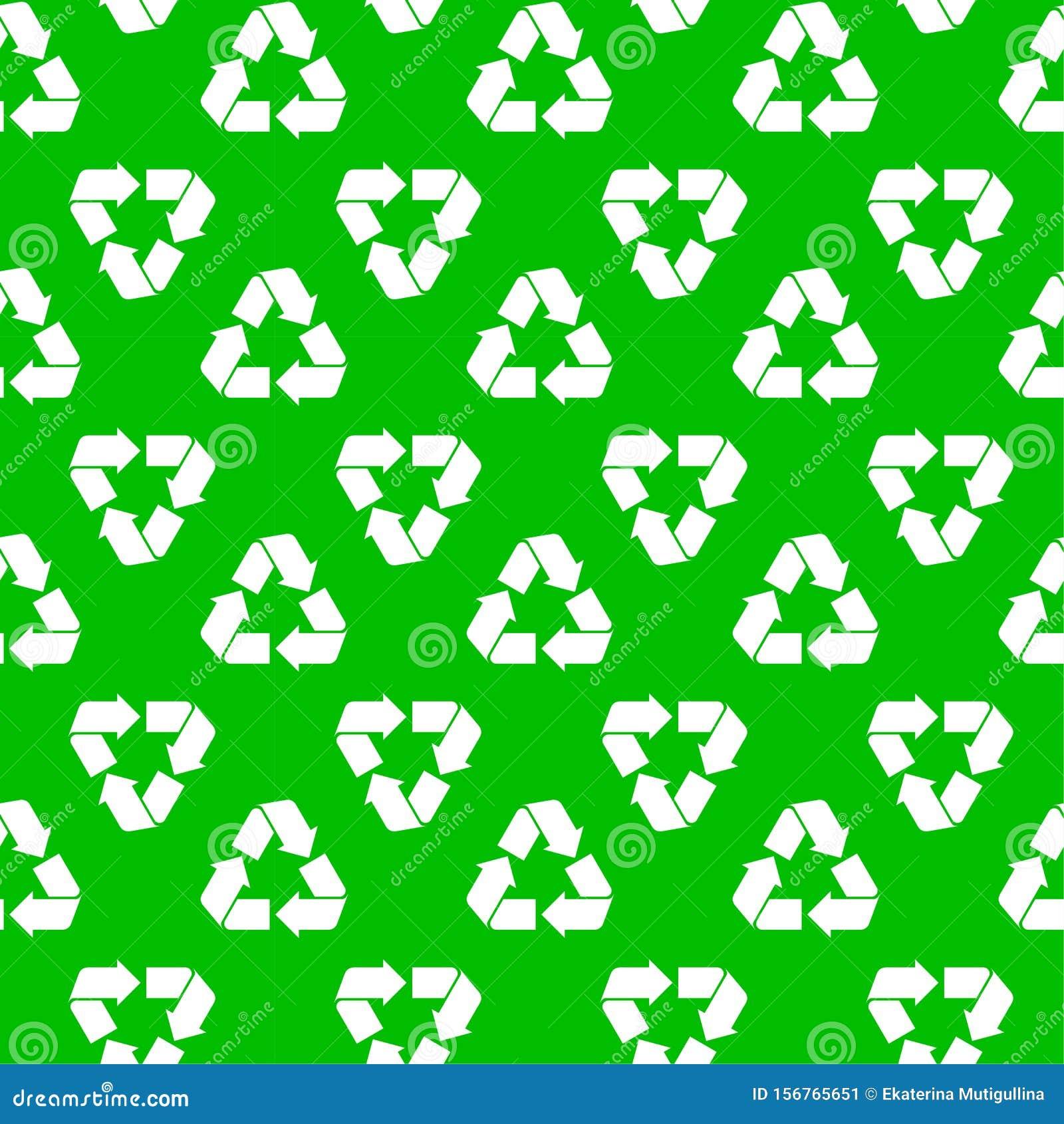 Seamless recycling pattern green