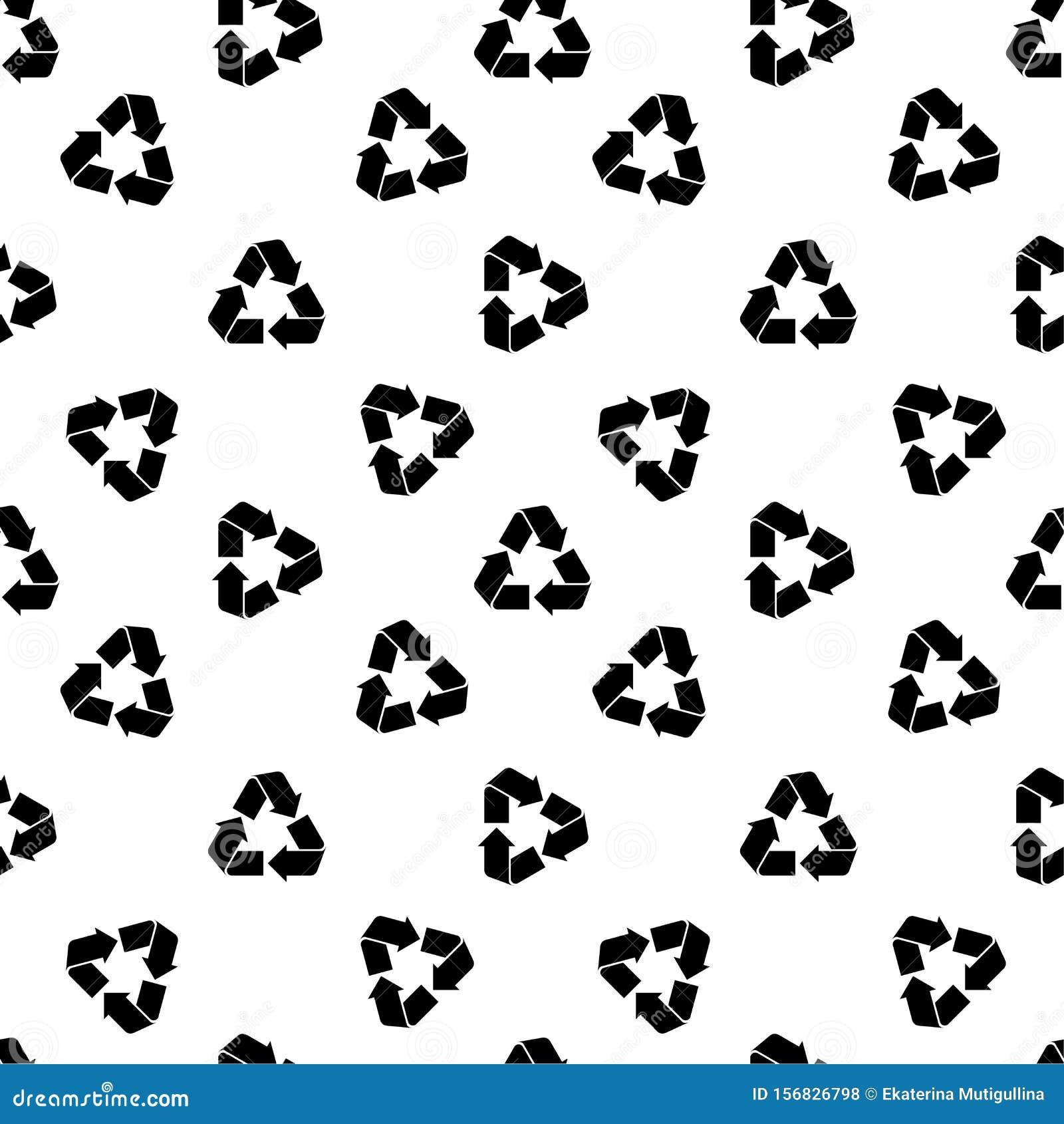 Seamless recycling pattern white