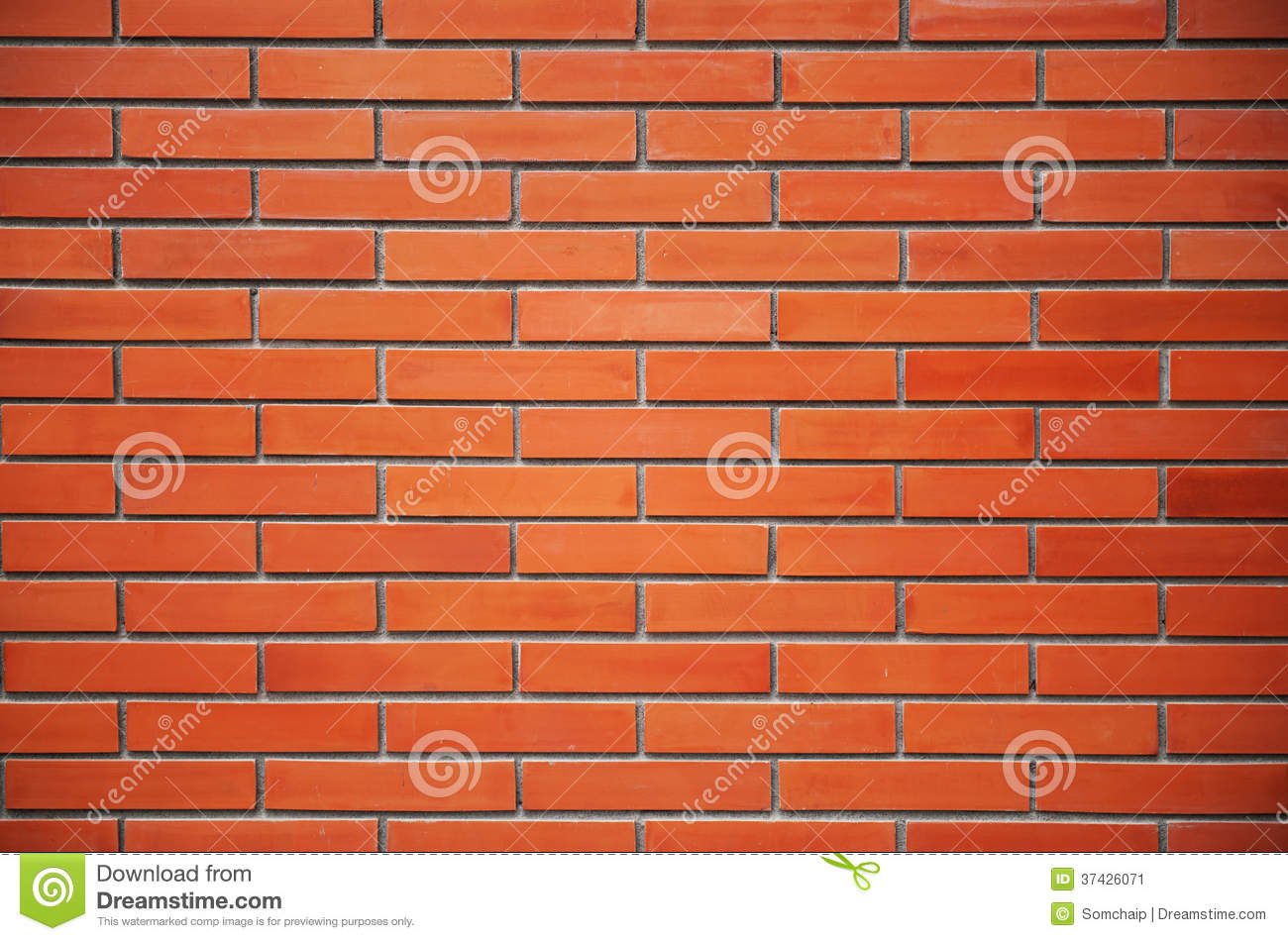 Orange Cement Wall : Seamless red brick wall stock image of historical