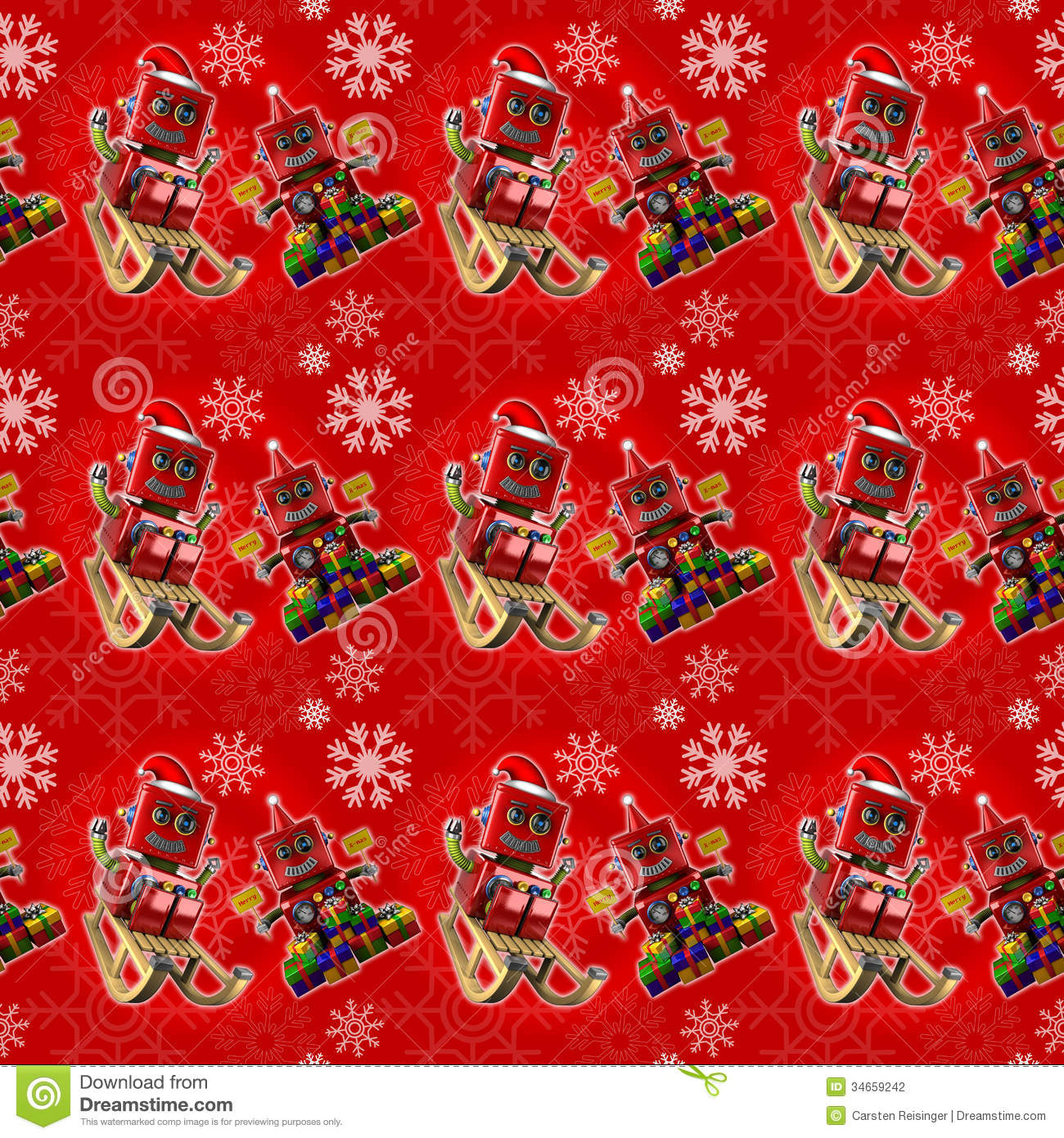 Seamless Red Christmas Background Stock Photography
