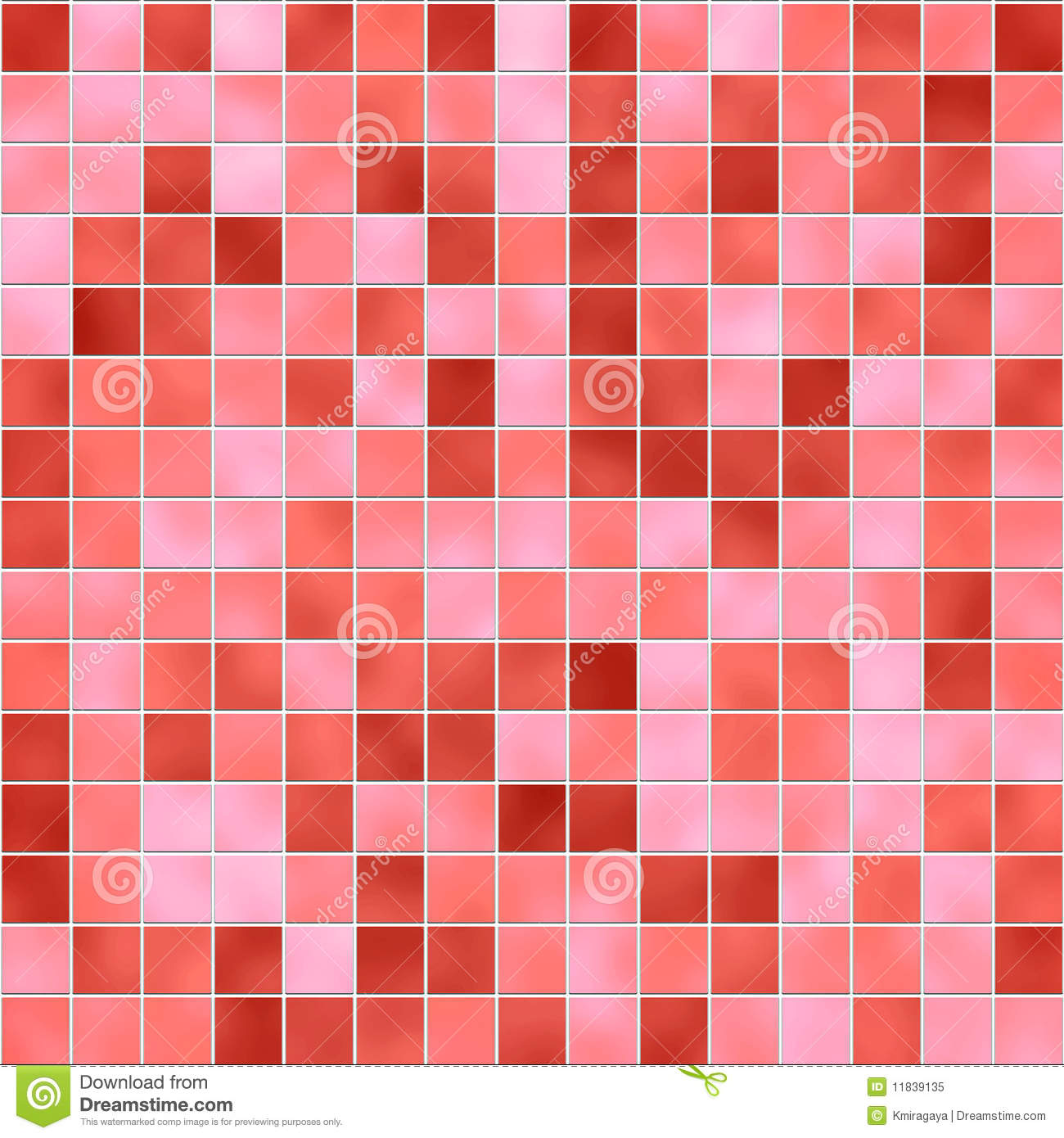 Seamless Red Tiles Texture Stock Illustration