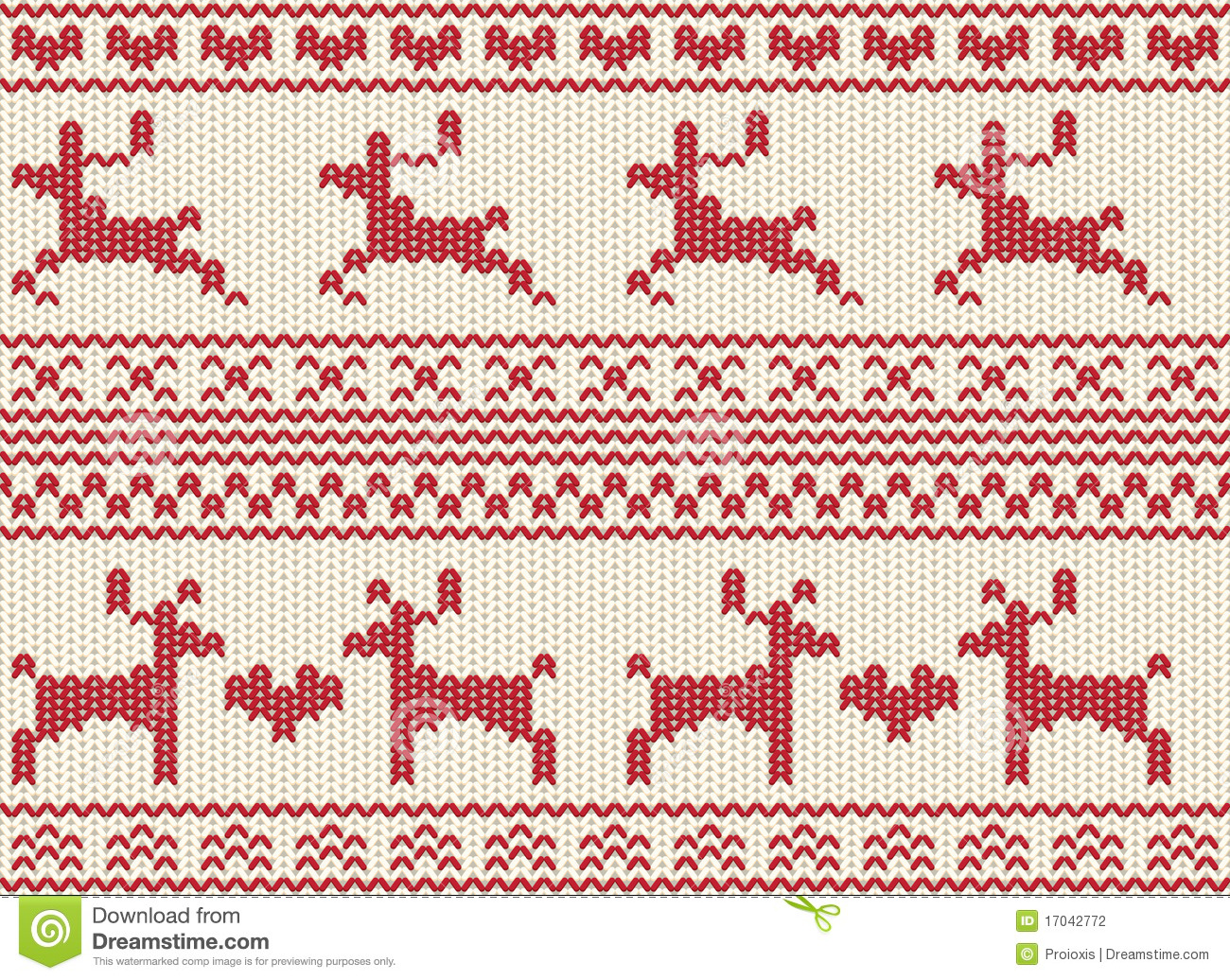 Fair Isle Knitting Patterns Free : Seamless Reindeer Fair Isle Knit Stock Photography - Image: 17042772