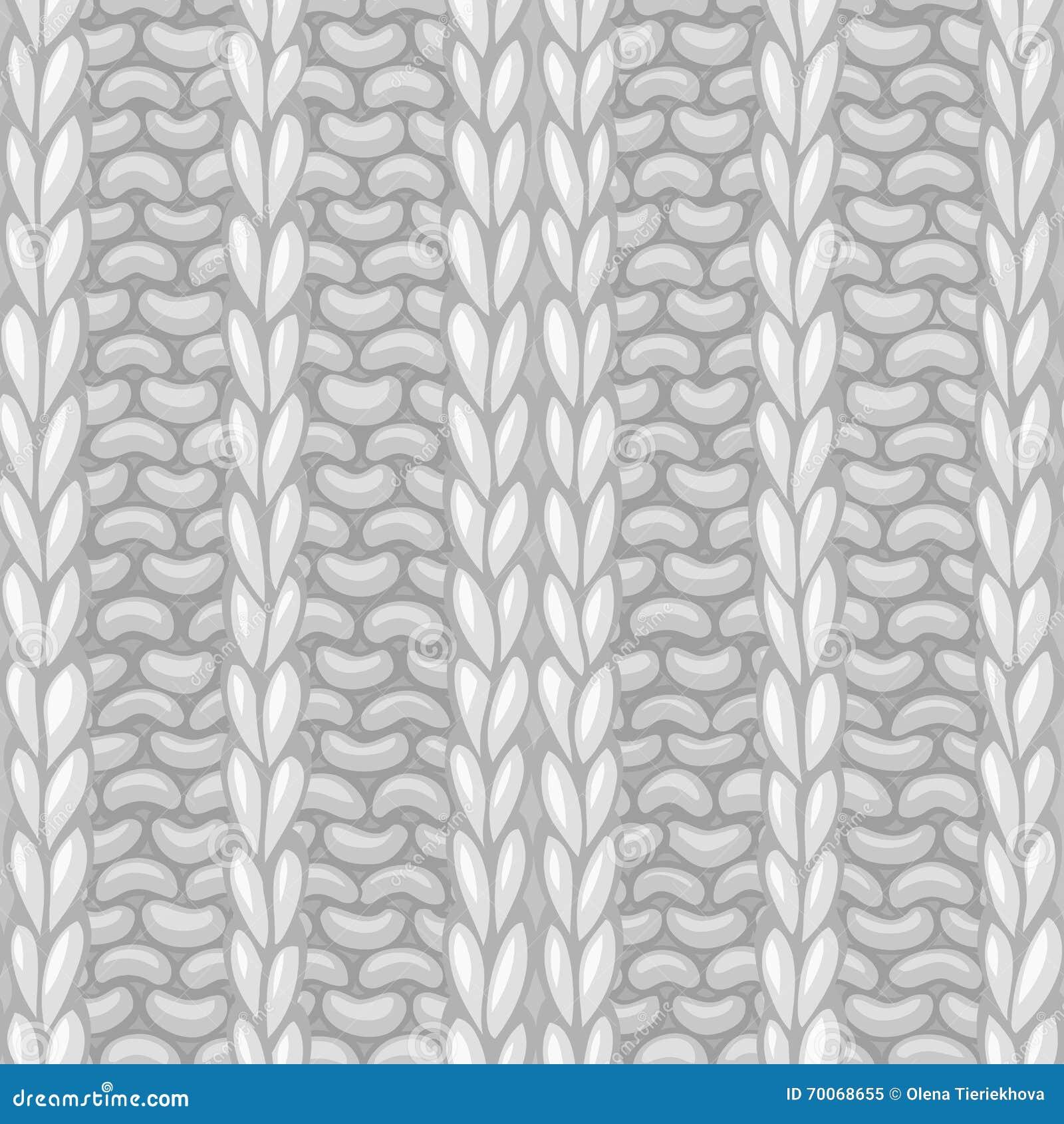 Seamless Ribbing Stitch Pattern. Stock Vector - Image: 70068655