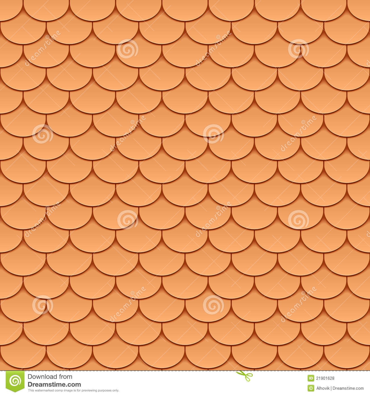 Seamless Roof Tiles Stock Vector Image Of Background