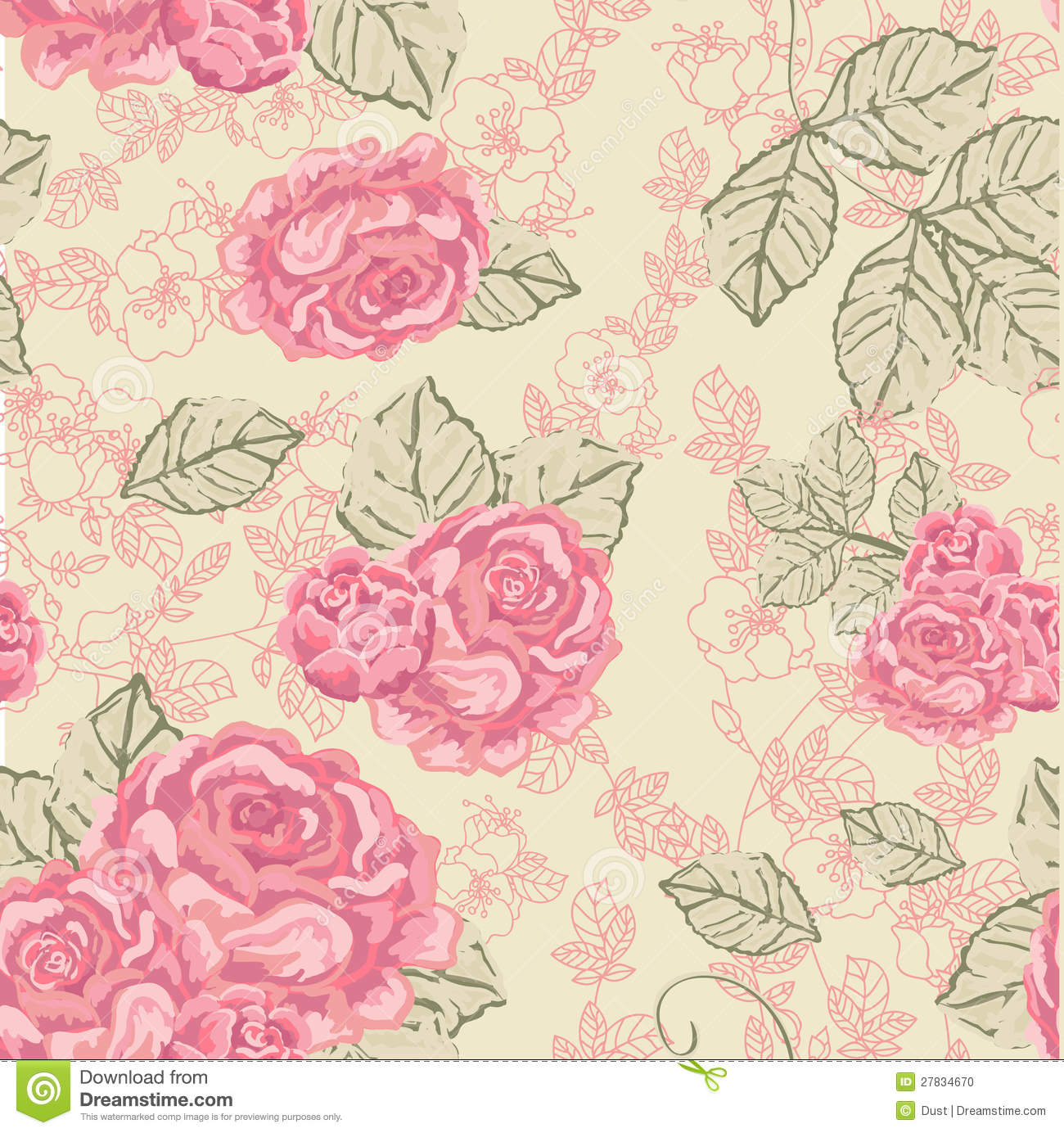 Vintage Rose Pattern Tumblr