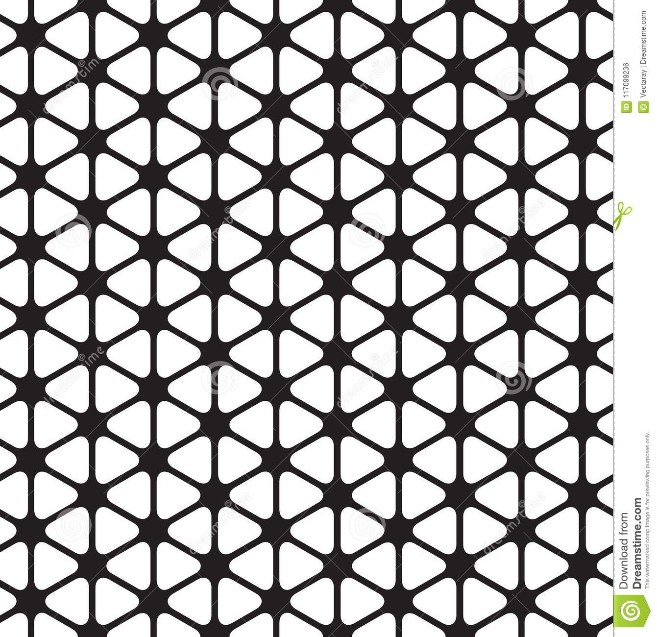 Seamless Rounded Triangle Pattern Background Stock Illustration