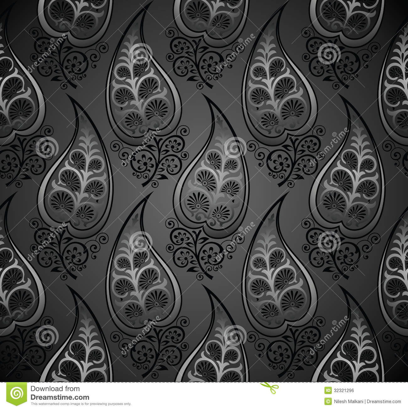 decorative leaves royal seamless vector wallpaper - Decorative Wallpaper