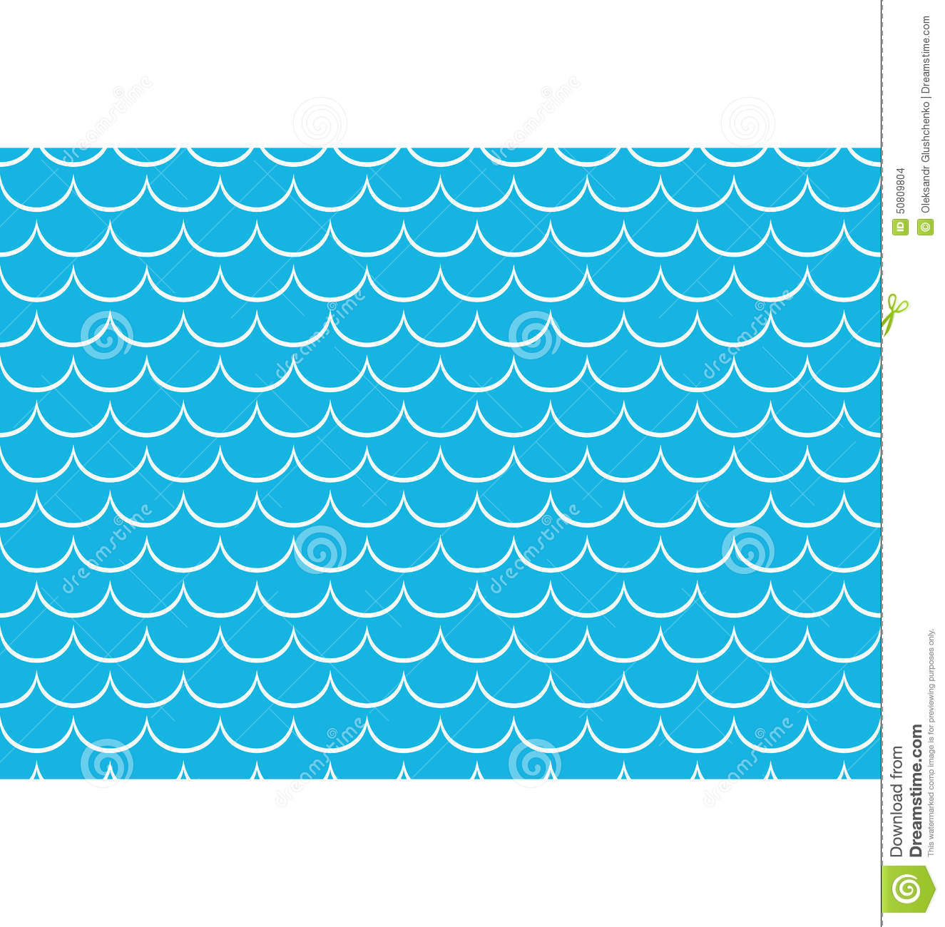 Seamless Sea Pattern White Scales On Blue Stock Vector - Image ...