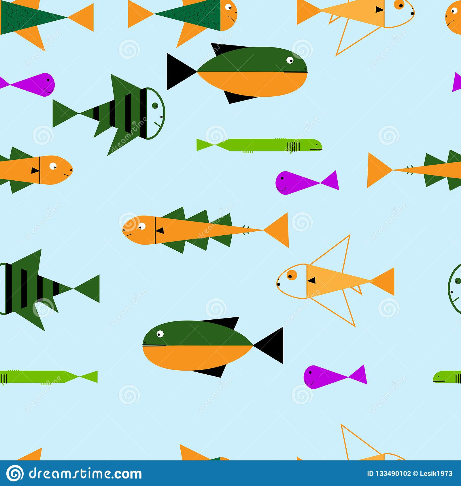 Seamless Sea Travel Icon Set Underwater Diving Animal