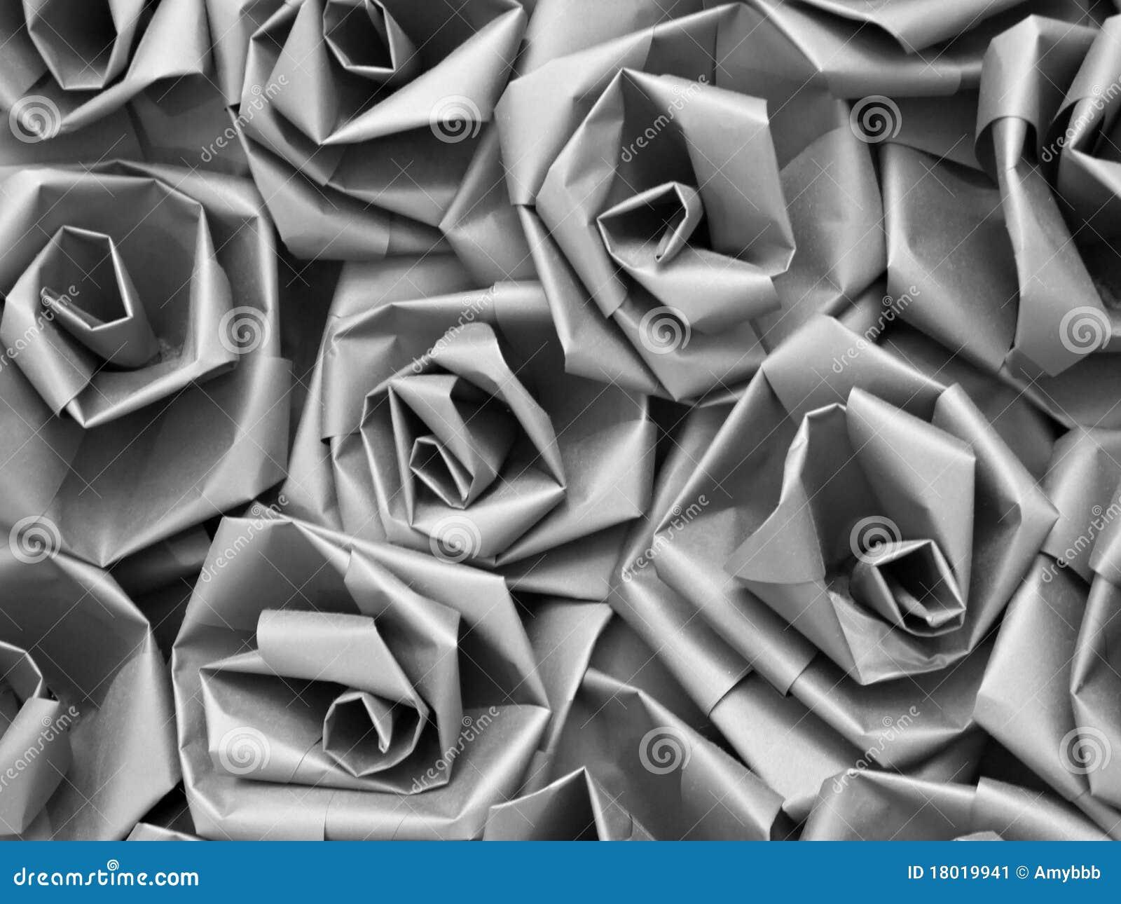 Seamless silver för gråa paper ro