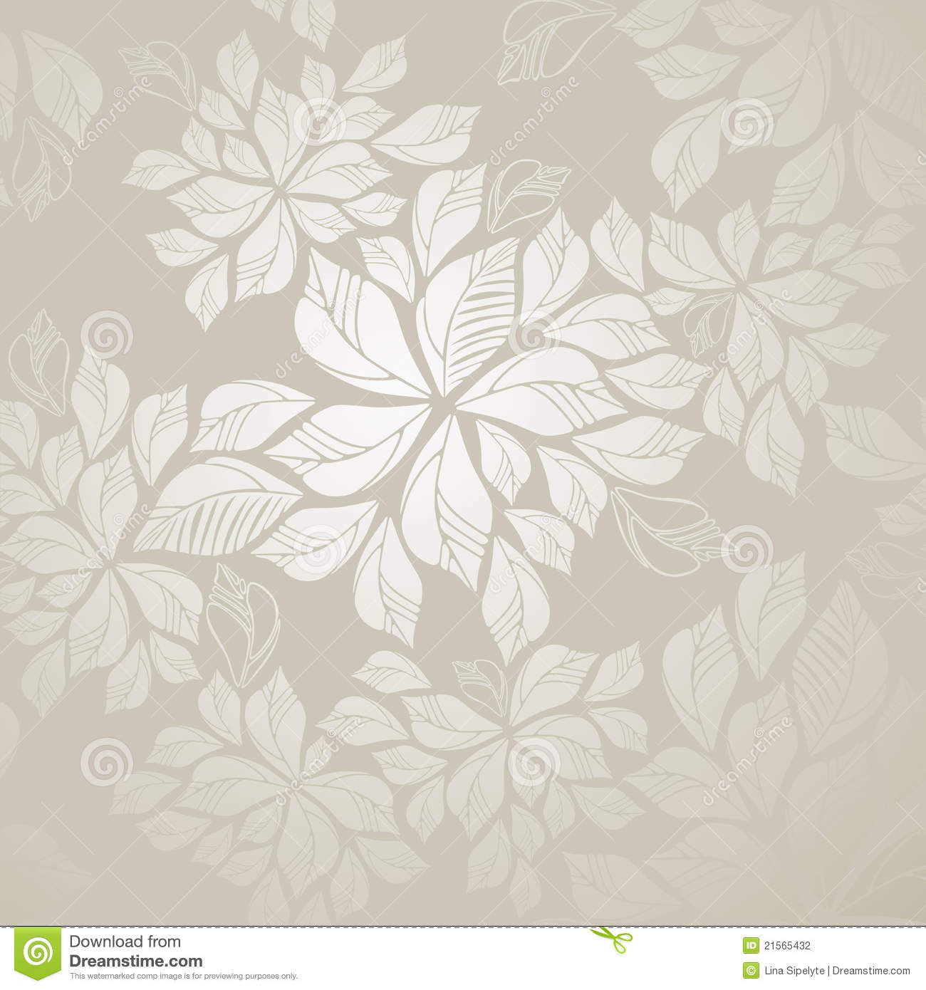 Silver Leaf Wallpaper