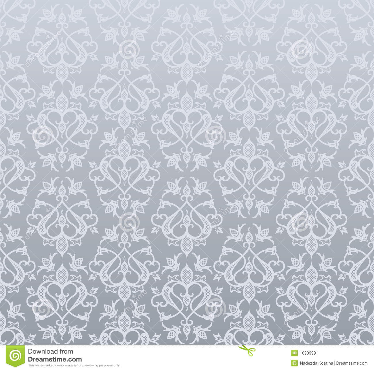 Seamless Silver Wallpaper Stock Vector Illustration Of