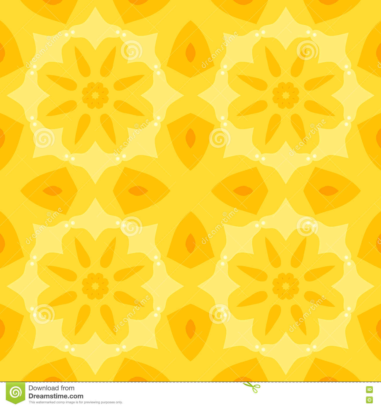 Bed sheet pattern texture - Bed Sheet Pattern Texture Seamless Simple Texture With A Yellow Flower And Stylized Orange Leaves