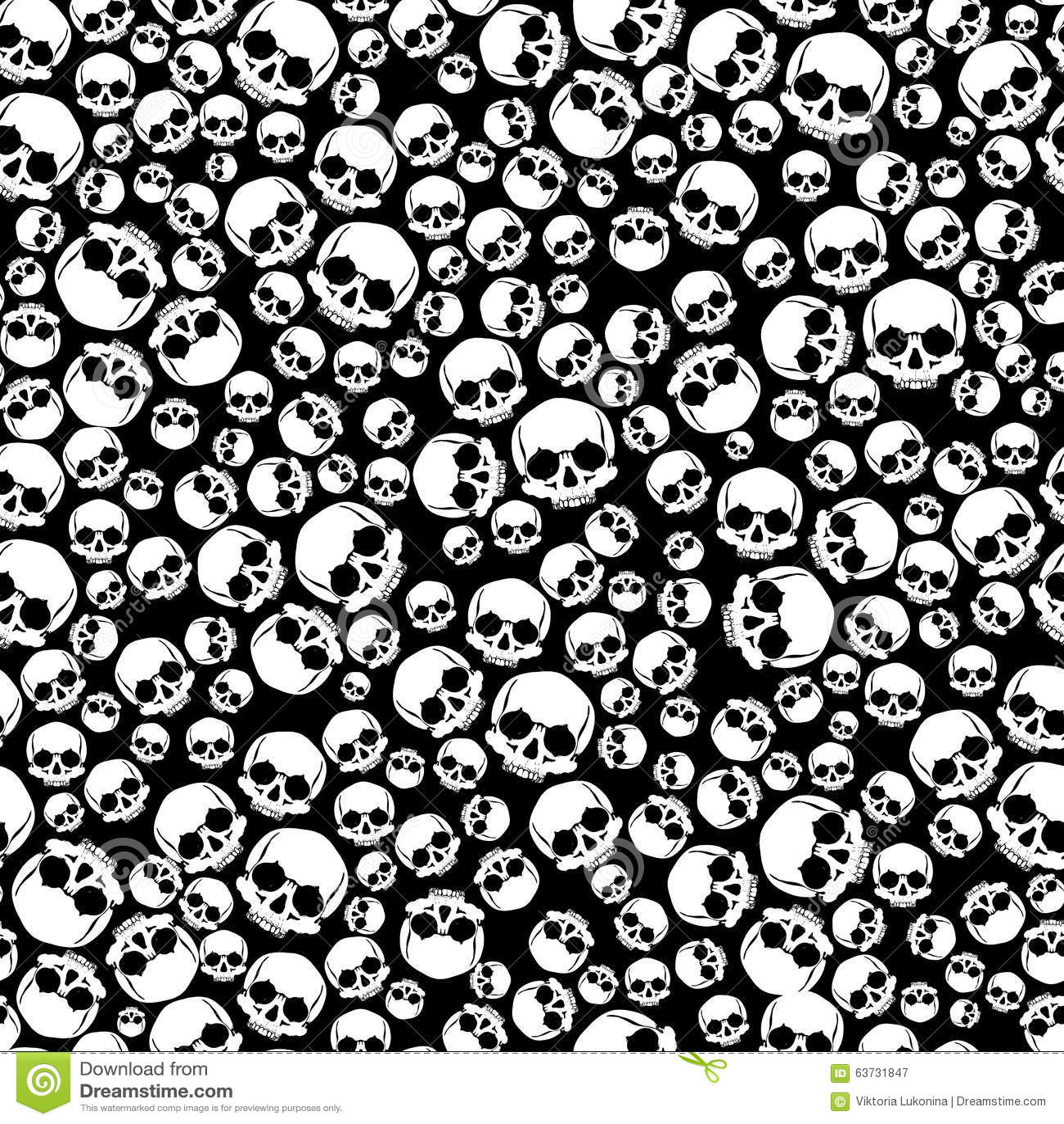 Seamless With Skulls Stock Illustration Illustration Of