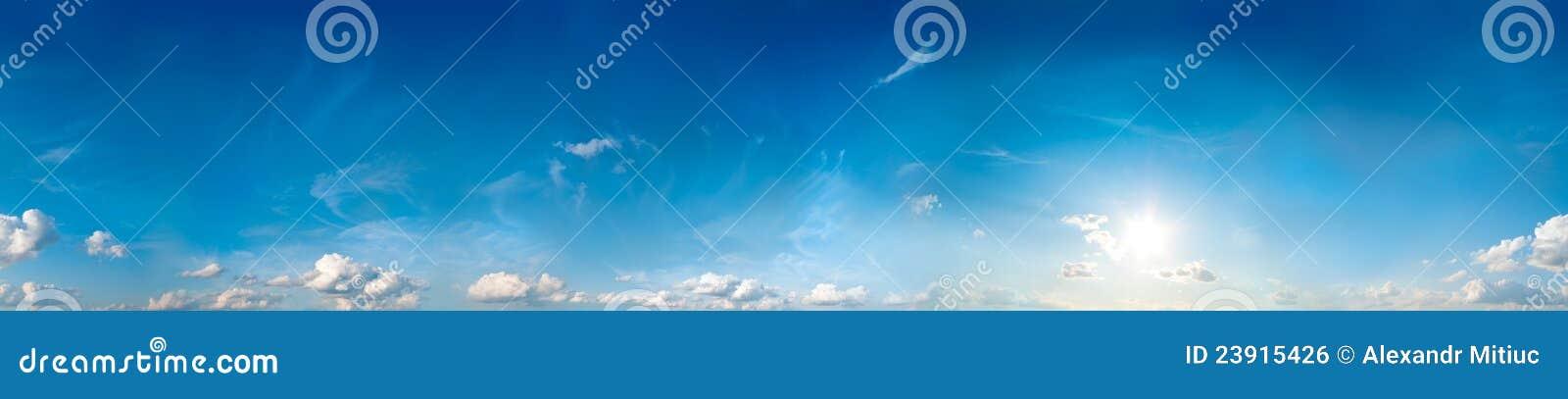 Seamless sky panorama