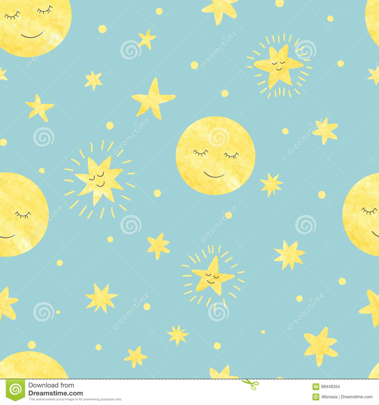 Kids at night with moon cartoon vector for Images of stars for kids