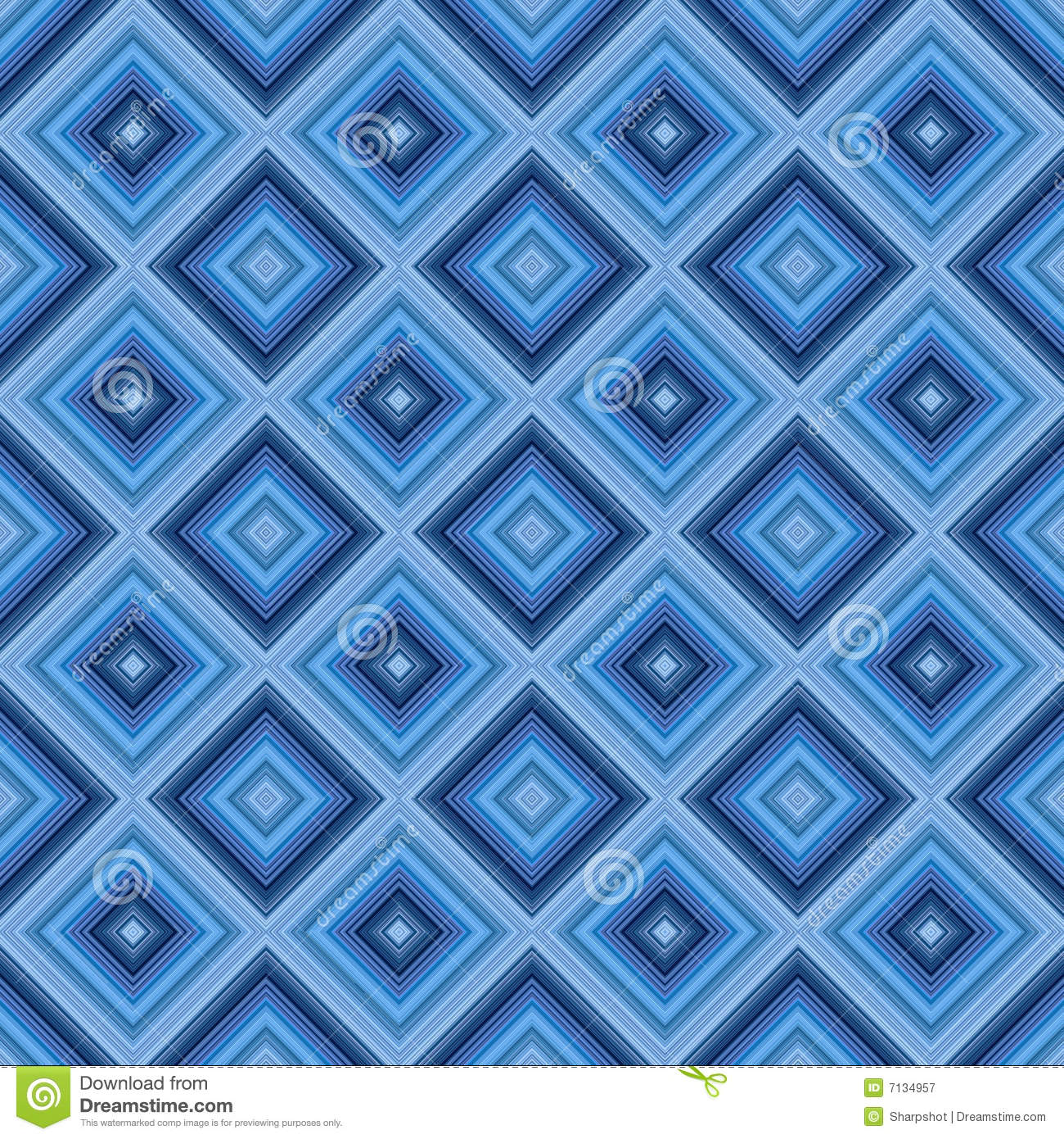 seamless small blue diamond pattern background stock