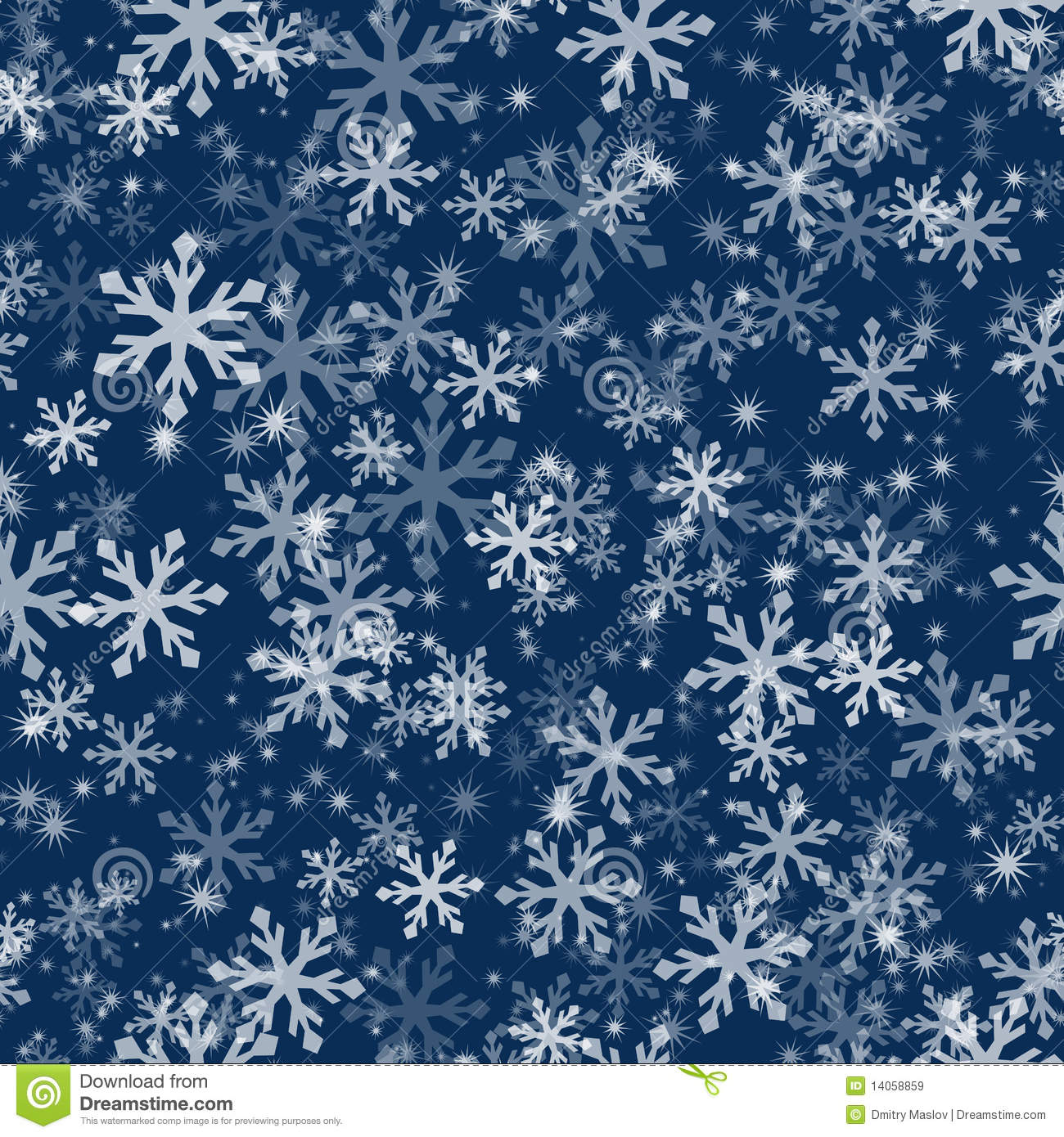 With white christmas background and snow vector vector background - Seamless Snowflake Pattern Royalty Free Stock Images