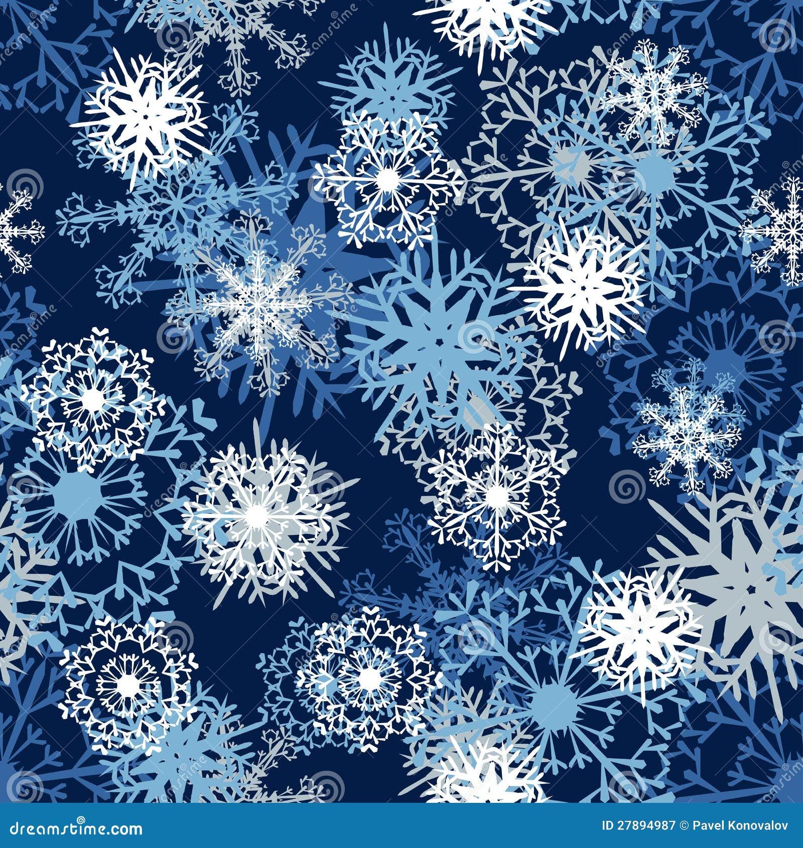 Seamless snowflake patterns. Fully editable EPS 8 vector illustration.