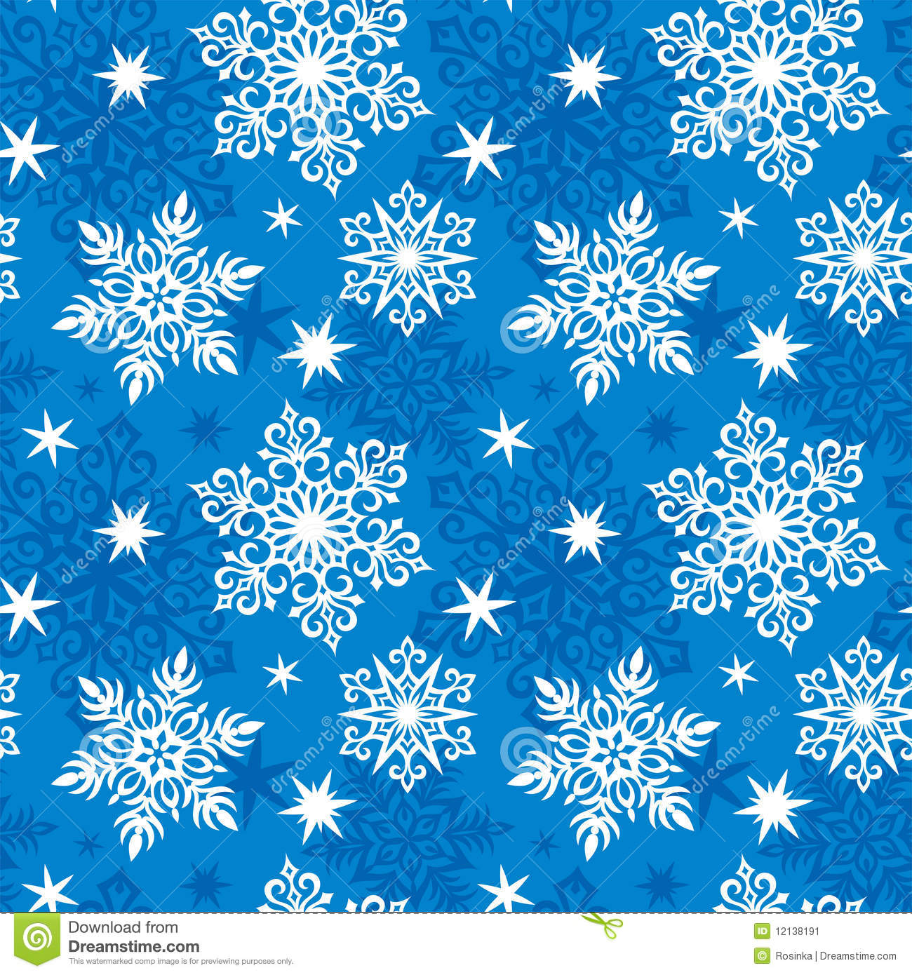 Seamless Snowflakes Pattern Stock Vector Image 12138191
