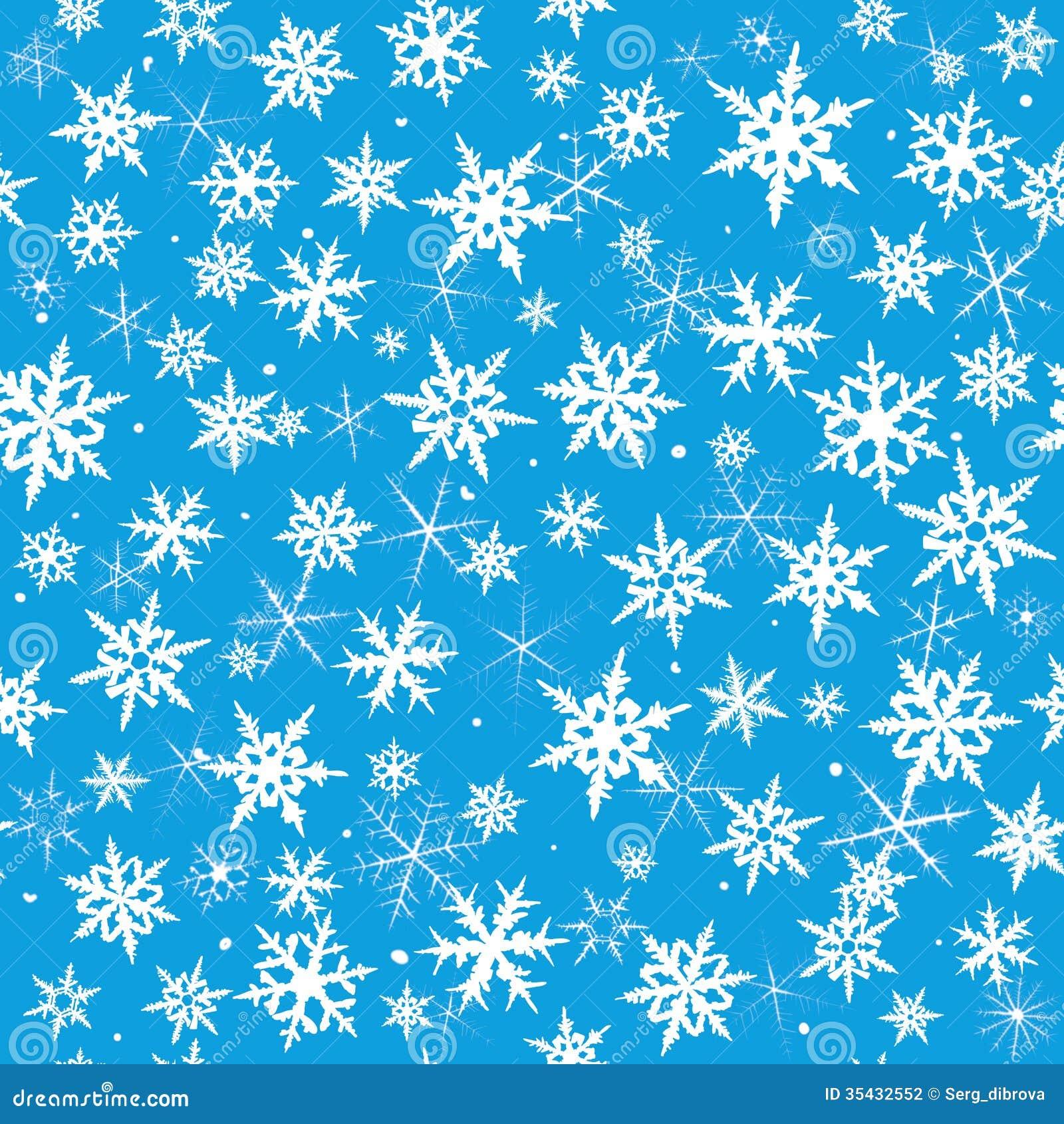 Seamless Snowflakes Stock Photography - Image: 35432552