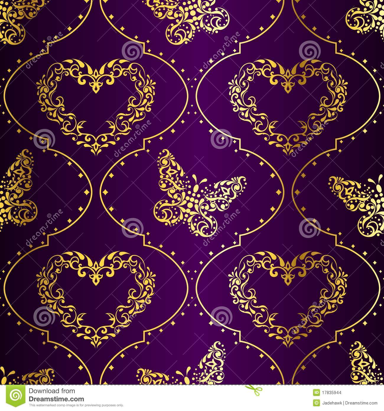 seamless springtime background in gold and purple stock. Black Bedroom Furniture Sets. Home Design Ideas