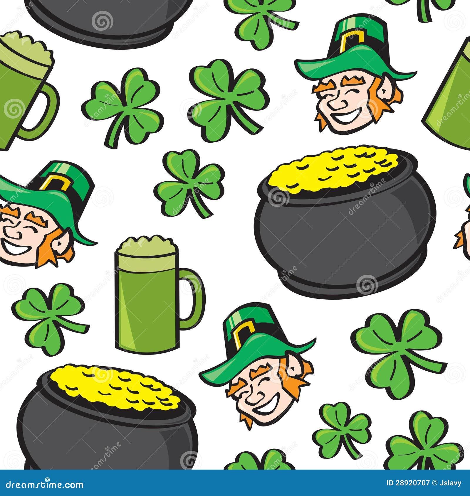 Seamless St Patricks Day Stuff Royalty Free Stock