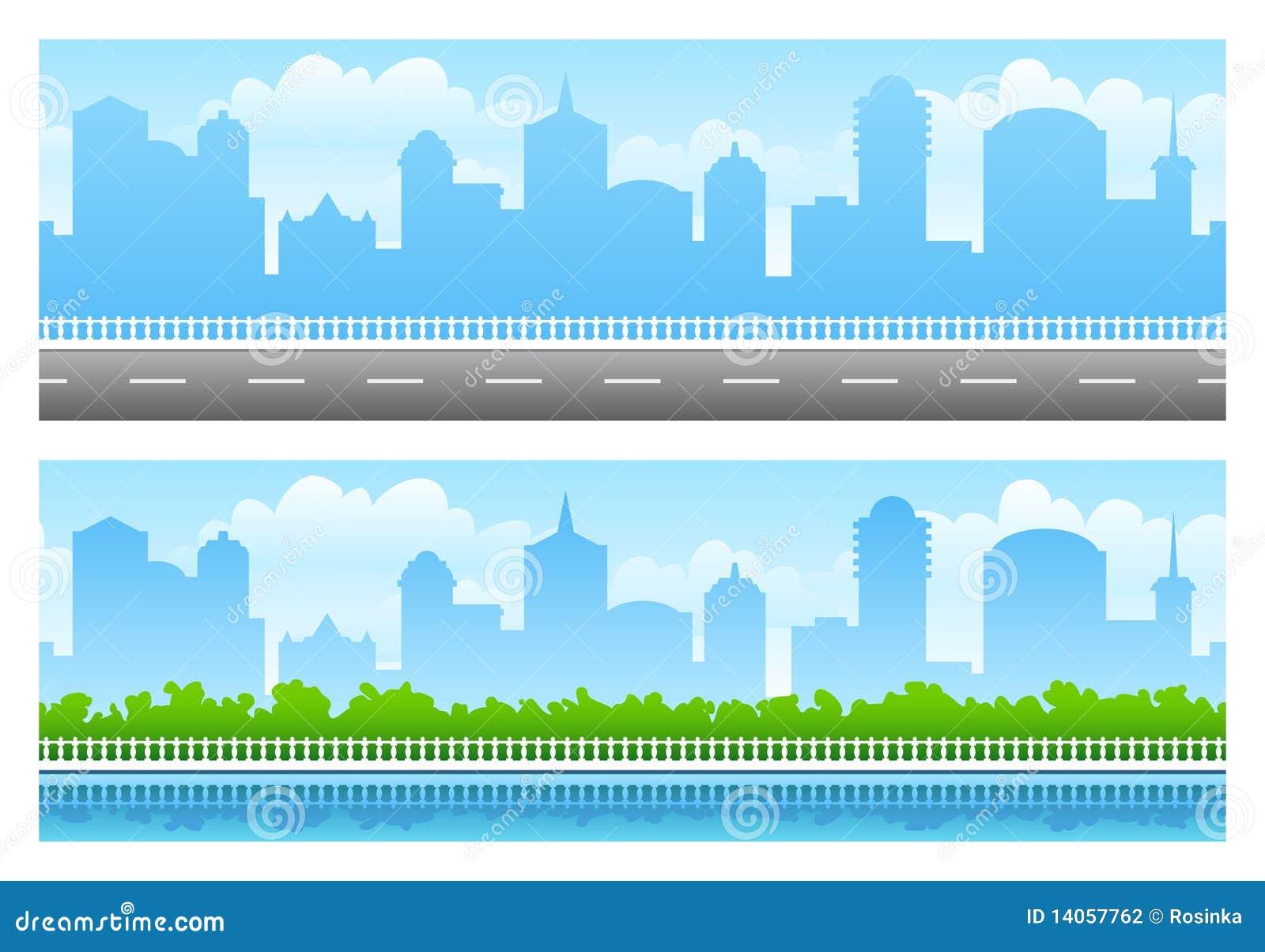 Seamless stadspanoramer