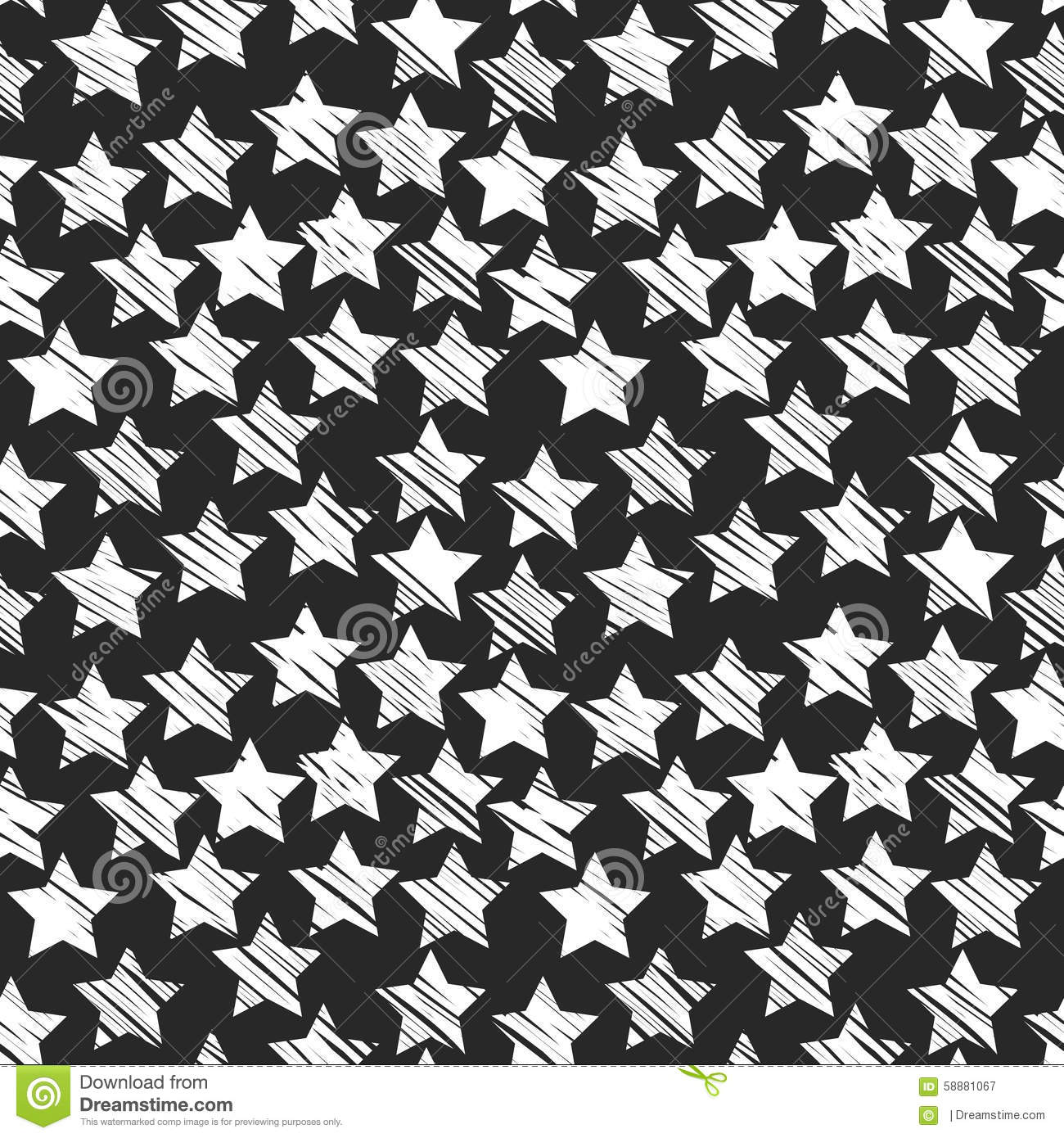 Seamless Star Monochrome Background Black And Stock Vector Illustration Of Plain Abstract 58881067