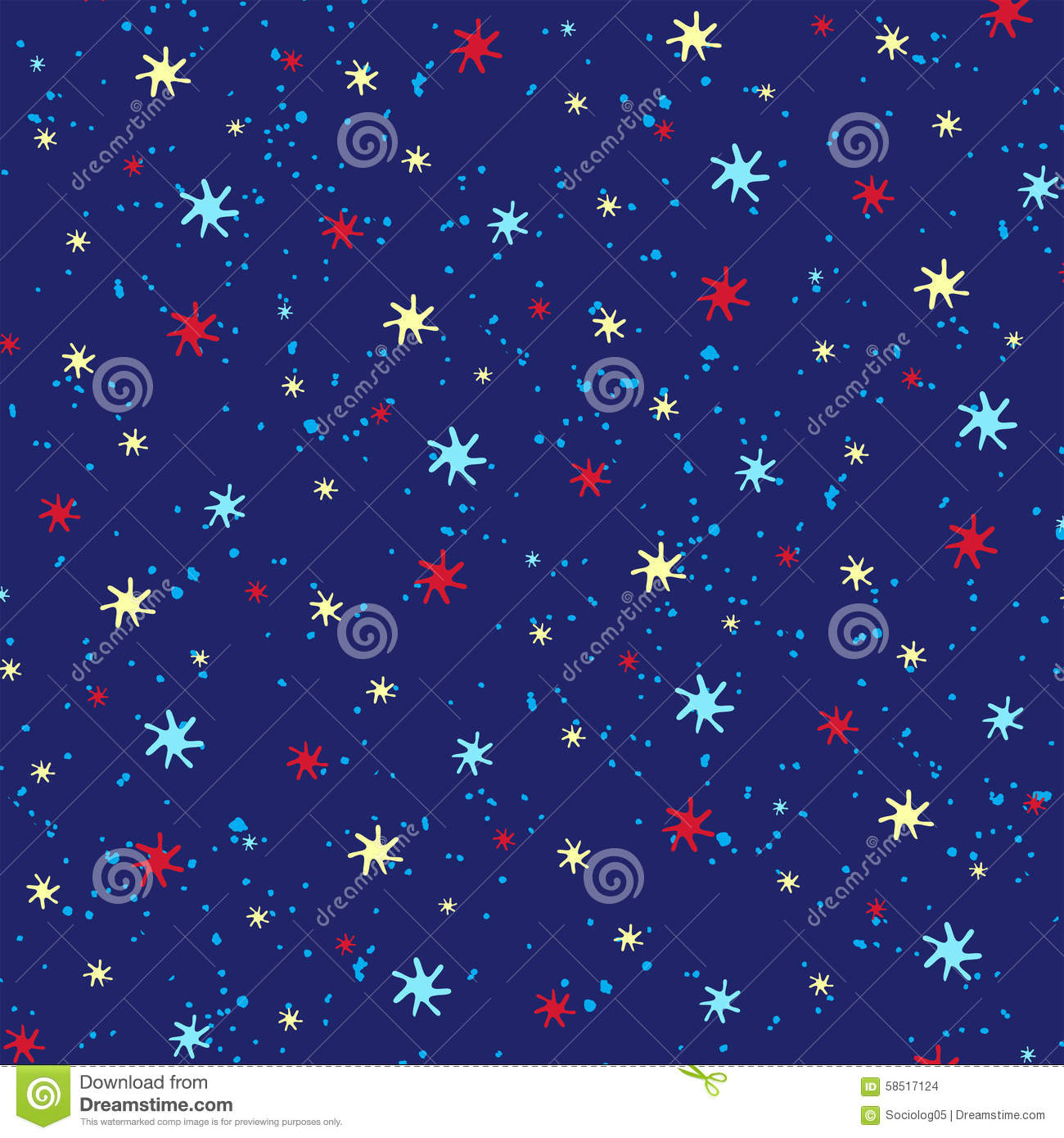 Seamless starry sky ornament stock photo image 58517124 for Starry sky fabric