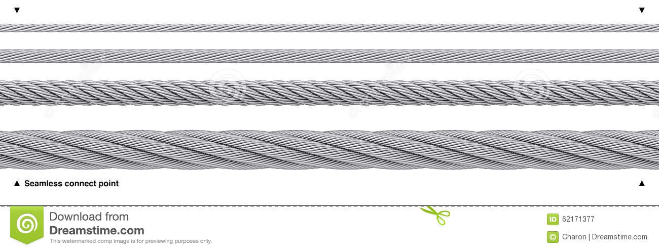 Seamless Steel Cable Repeatable Wire Rope Illustration 62171377 ...